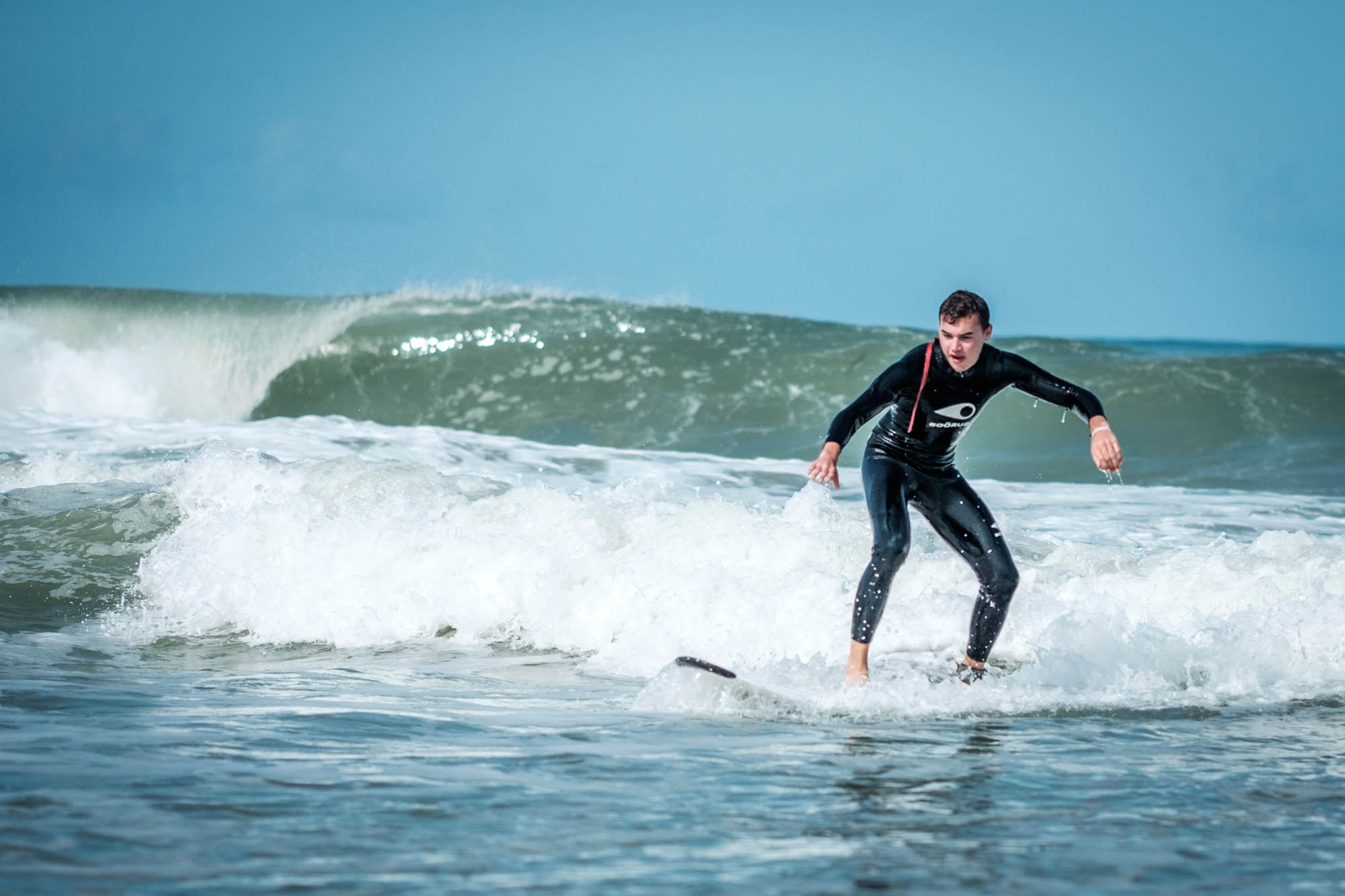 Wellenreiten am Atlantik
