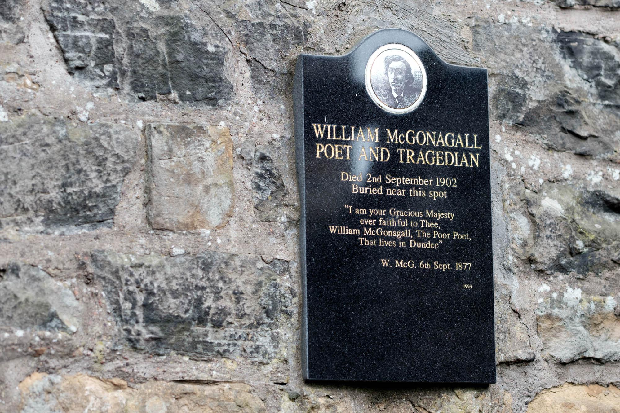 McGonagall auf dem Greyfriars Kirkyard Edinburgh