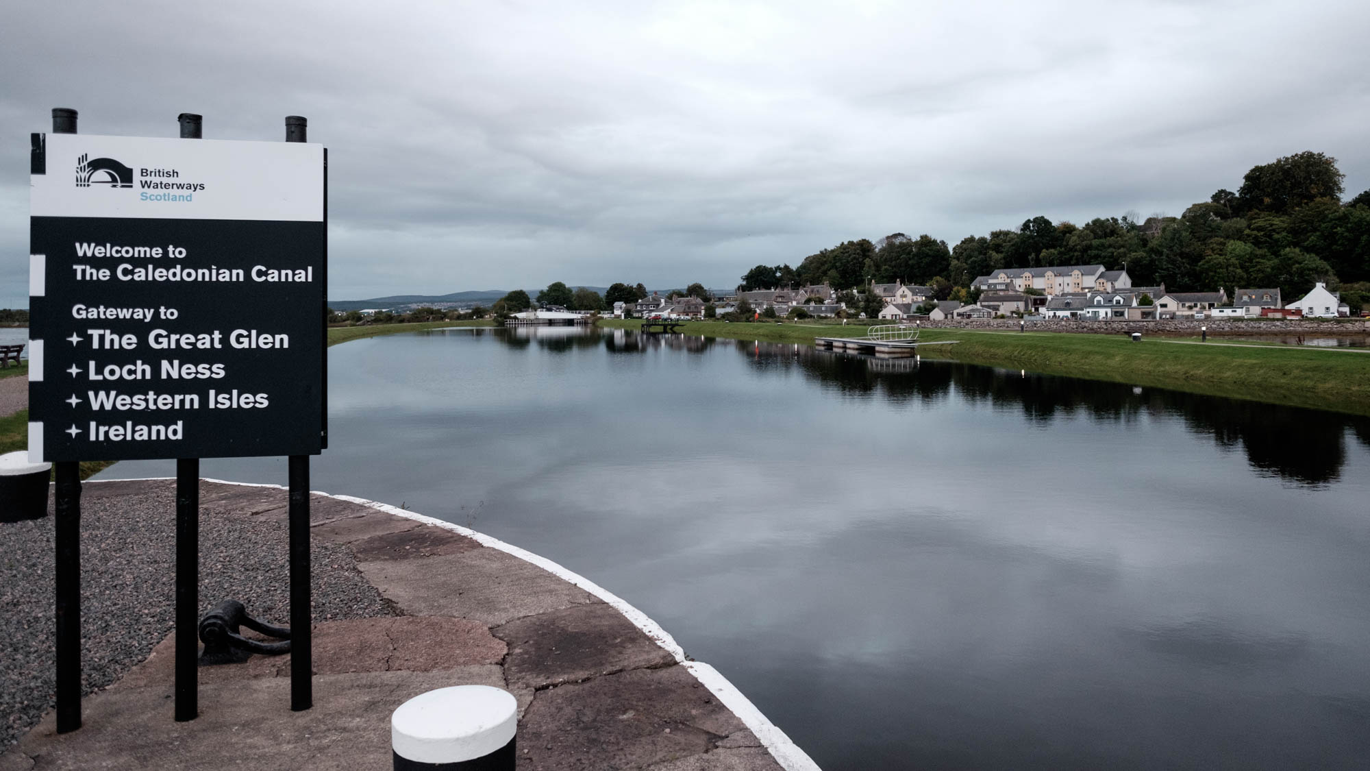 Nördliche Ende des Caledonian Canal bei Inverness
