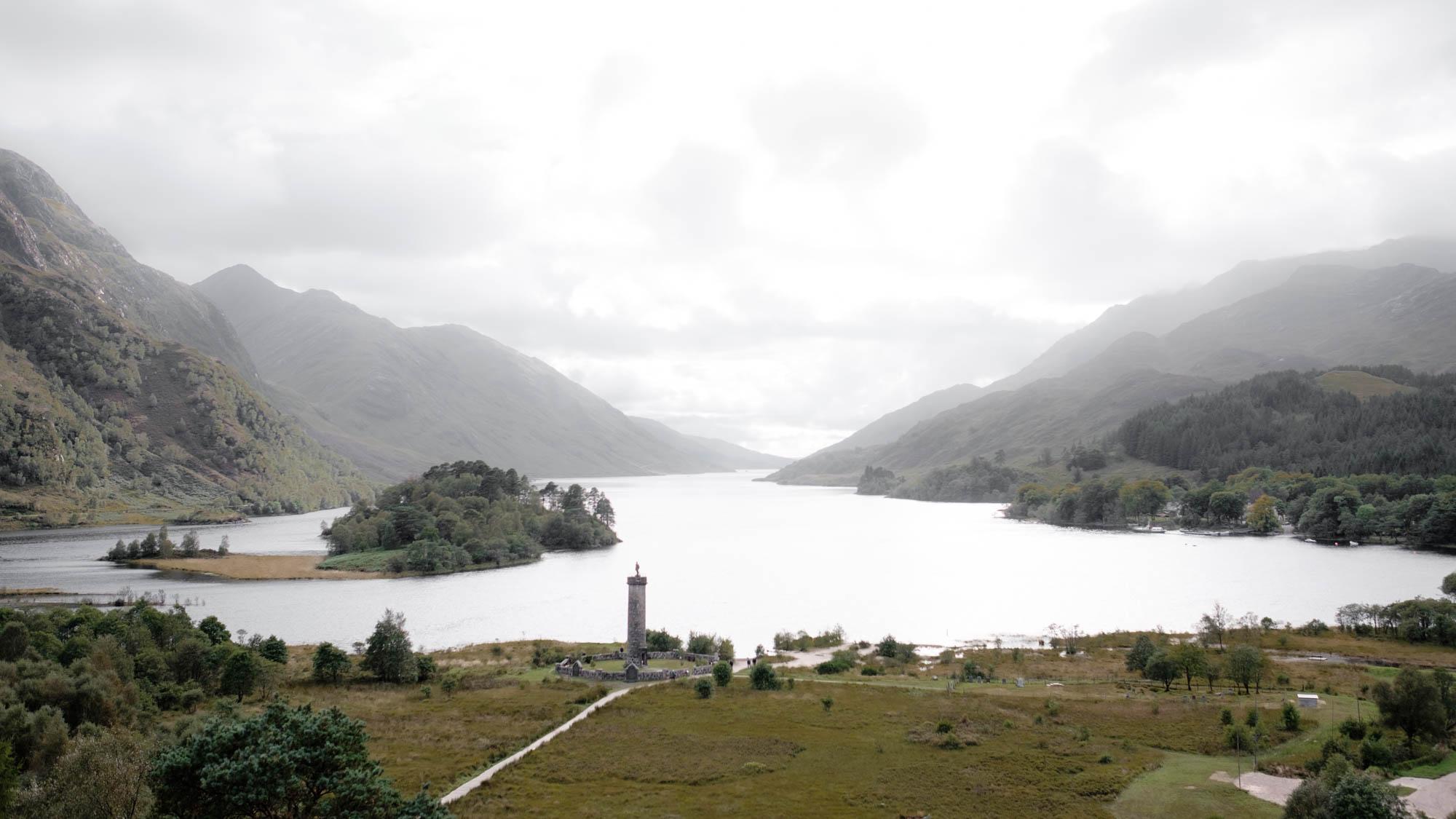 Loch Shiel Glennfinnan Monument Schottland