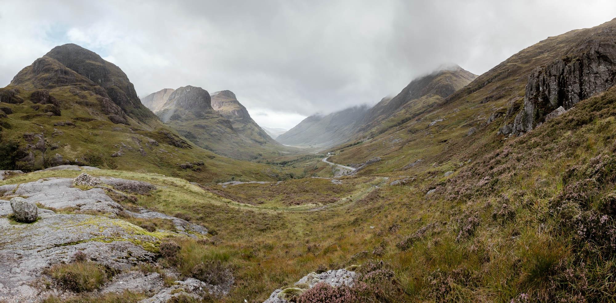 Passstrasse Three Sisters Schottland