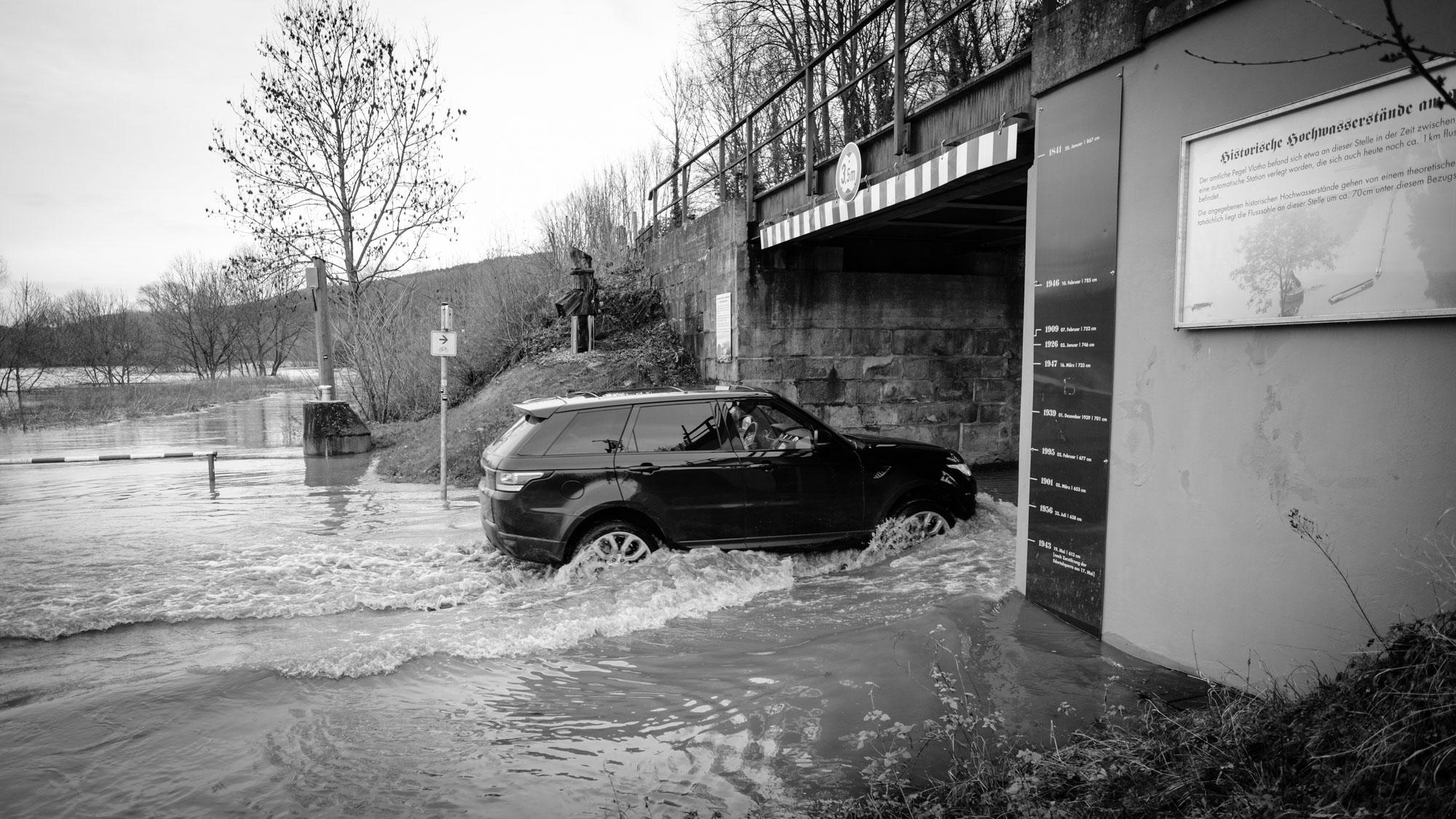 Hochwasser Weser Vlotho