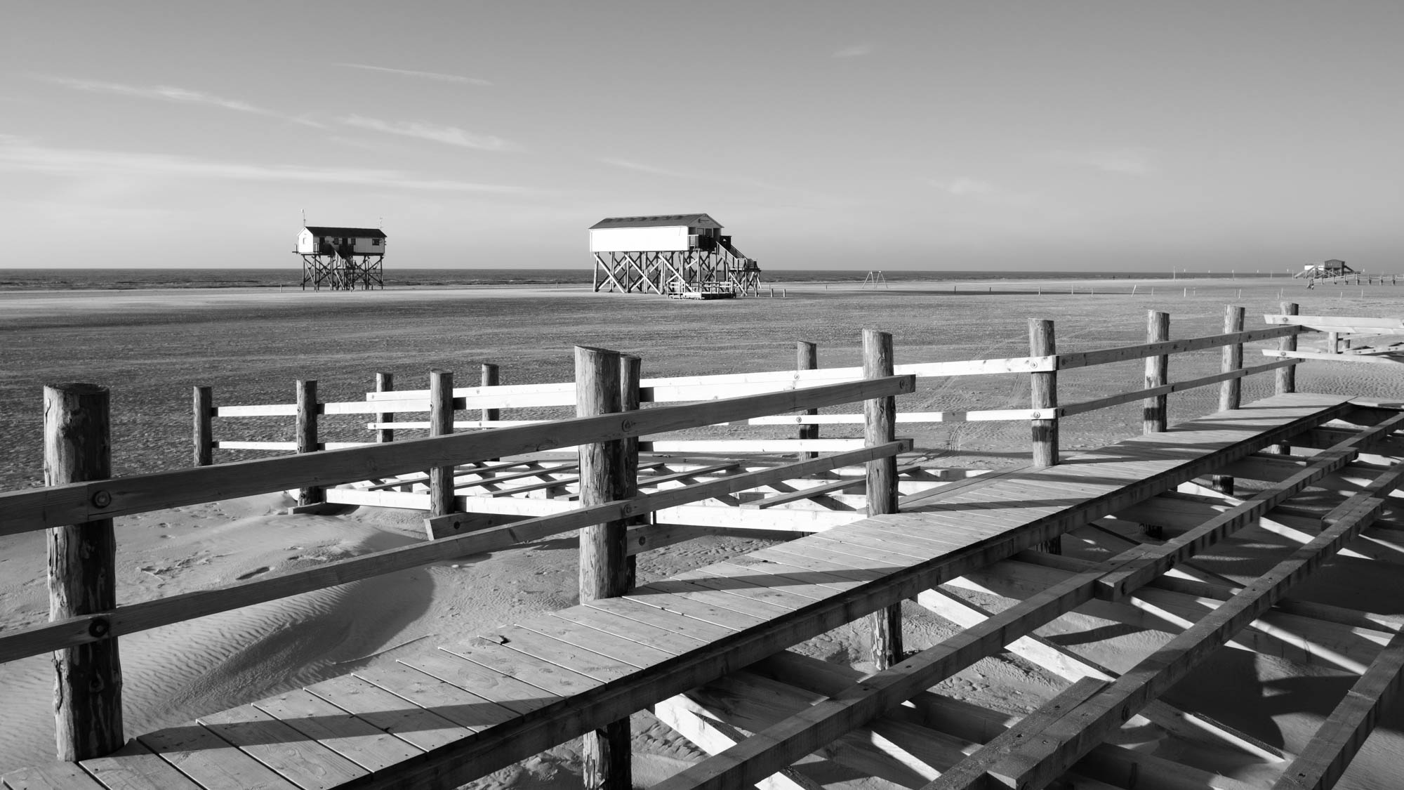 St. Peter-Ording - Strand im Winter