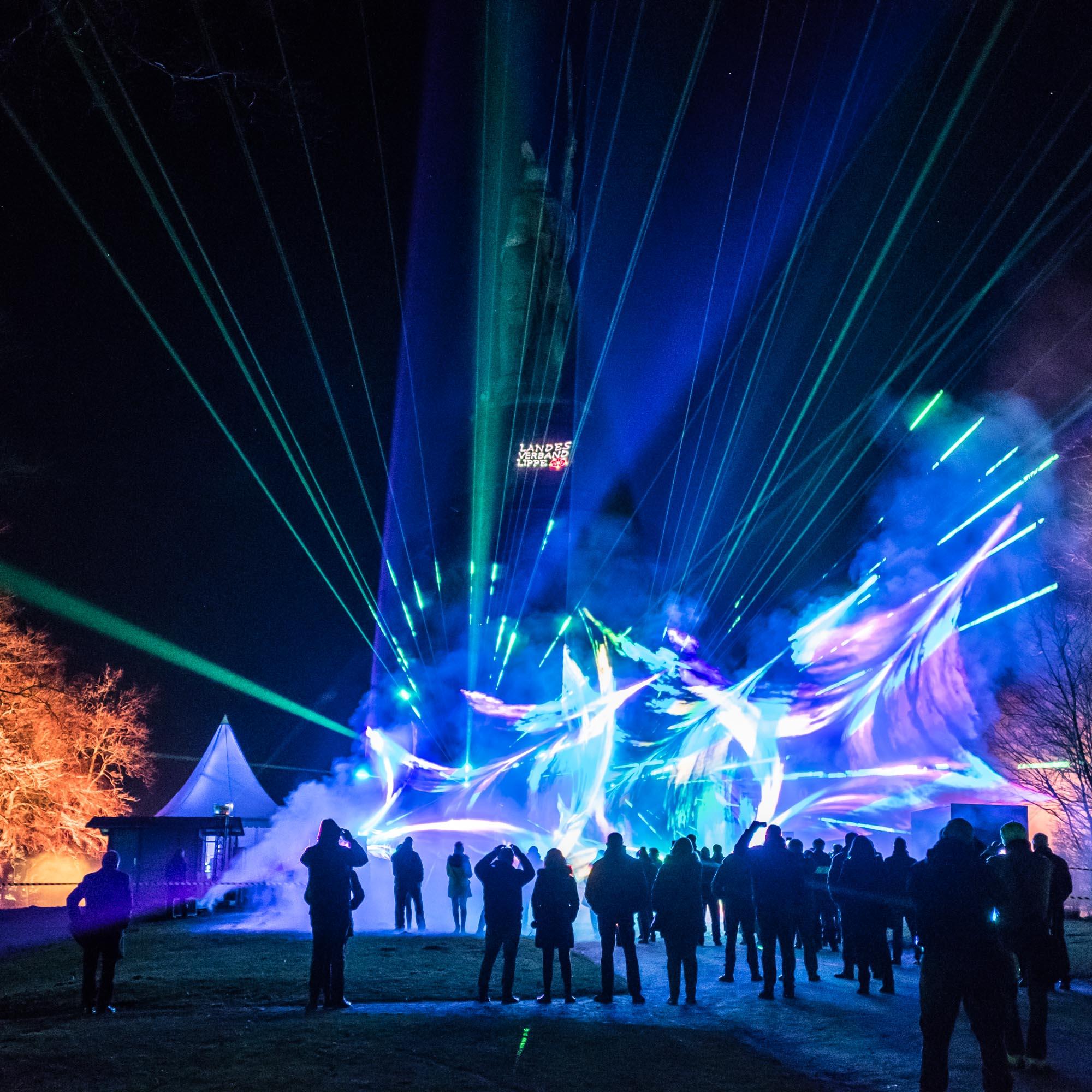 Hermann leuchtet 2018 Lasershow