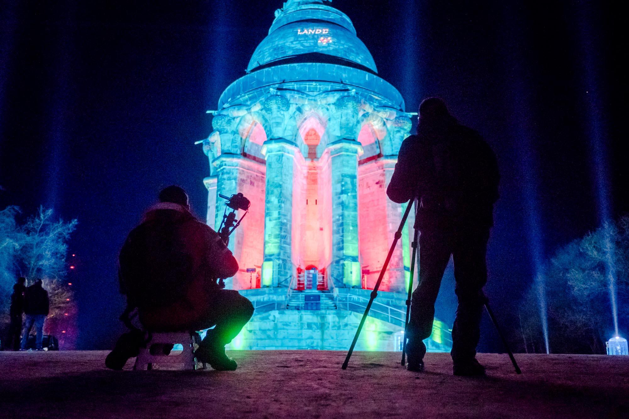 Hermann leuchtet 2018 Hermannsdenkmal
