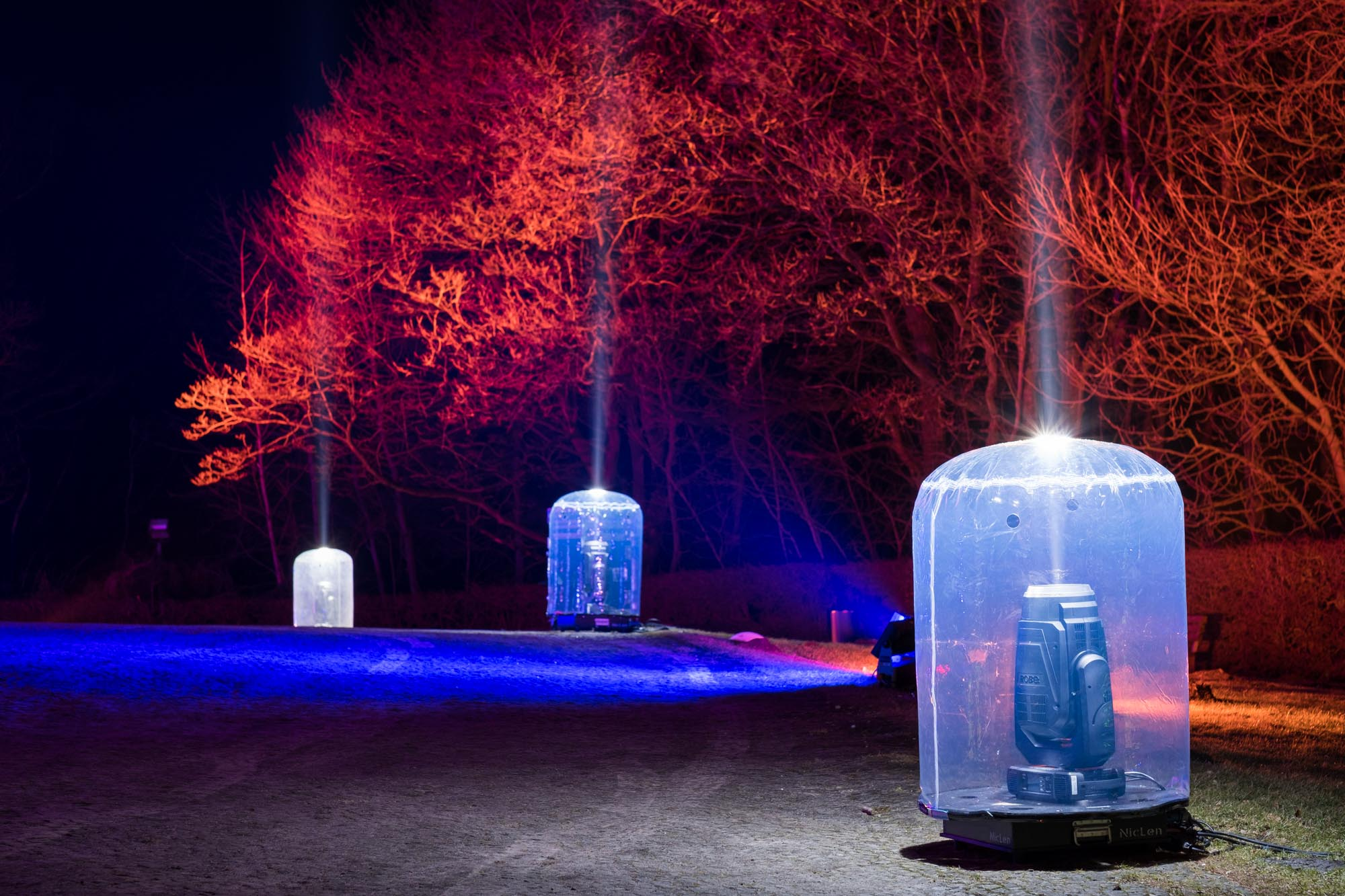 Hermann leuchtet 2018 Laser am Hermannsdenkmal