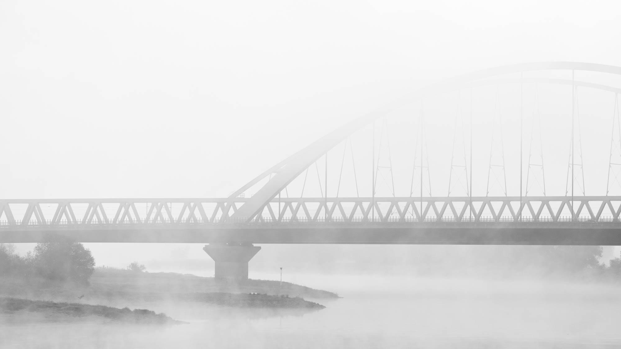 Nebel über der Elbe