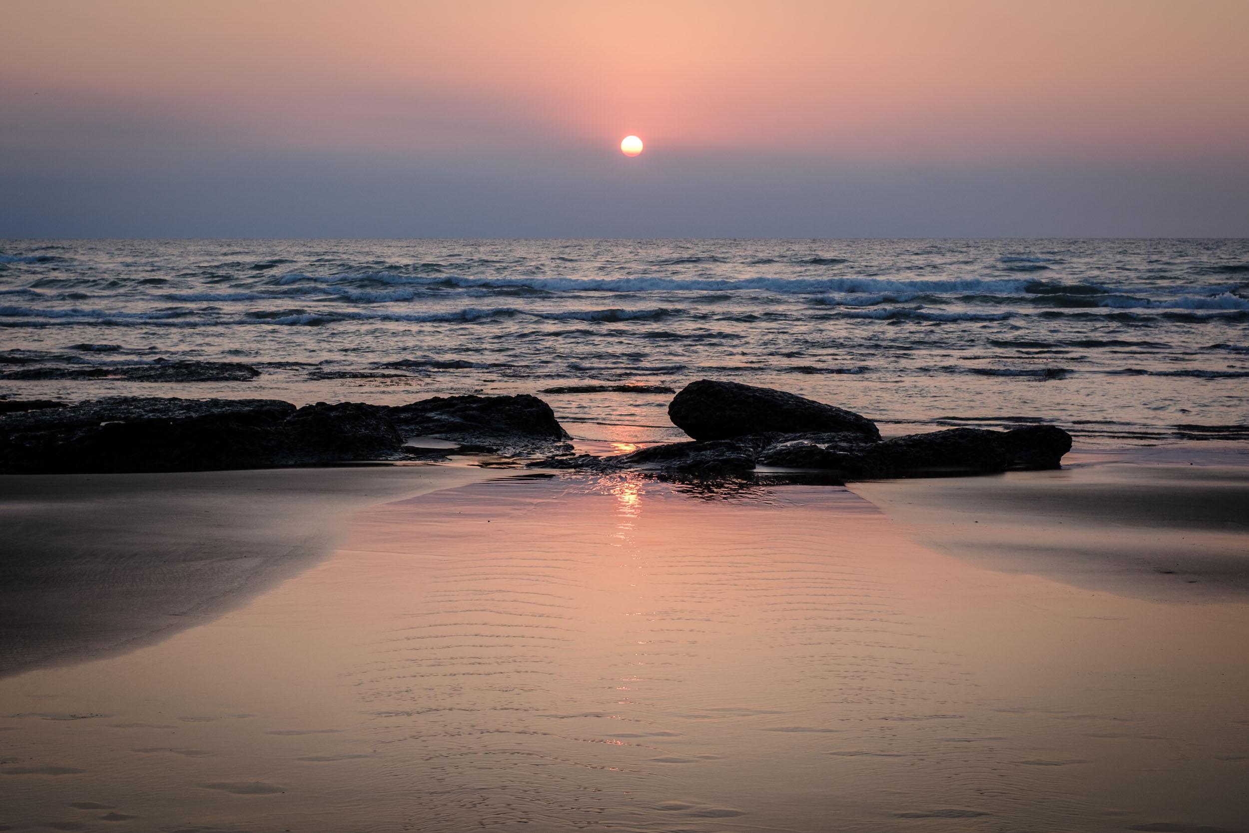 Bidart Strand Sonnenuntergang