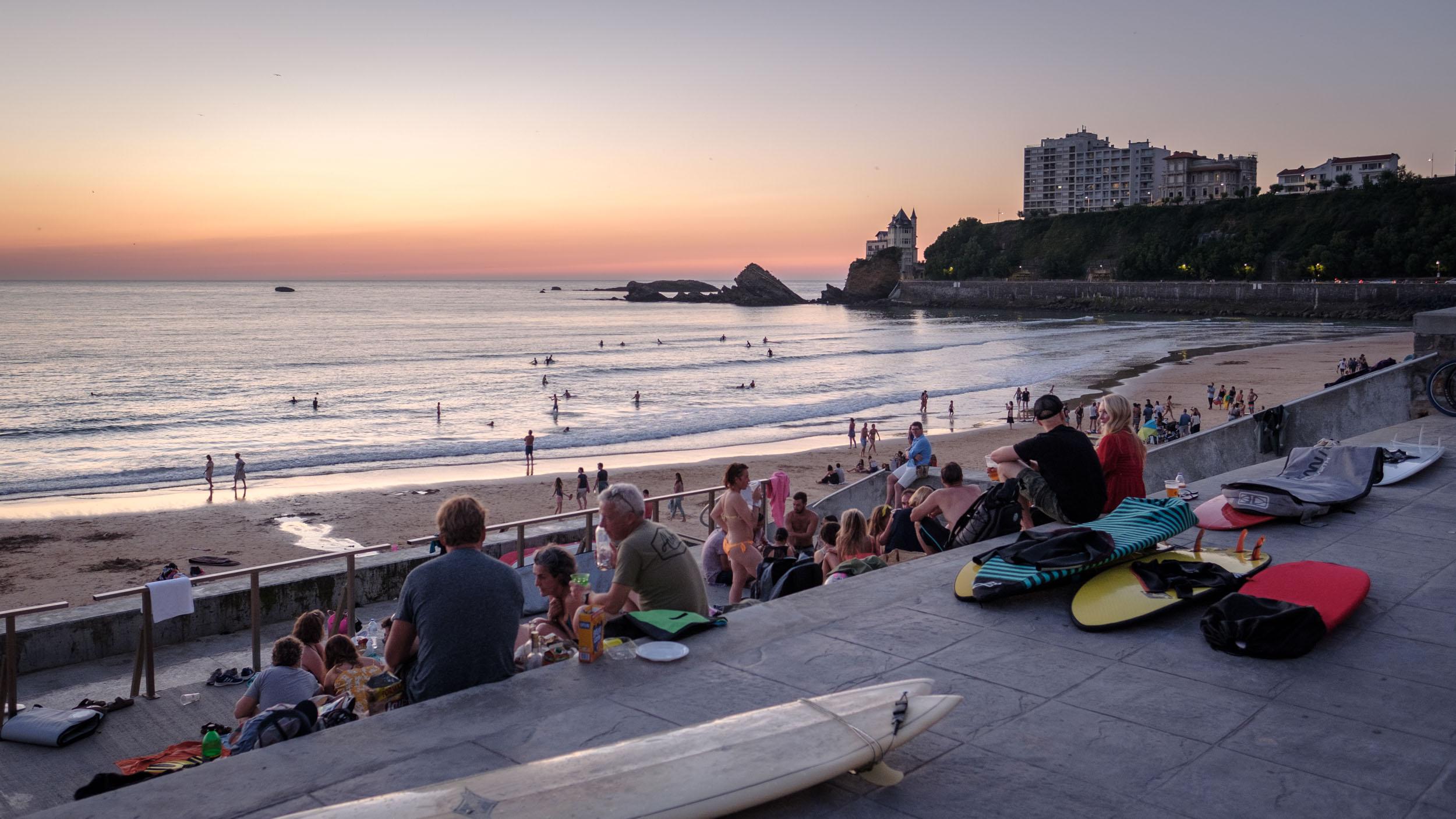 Abend in Biarritz