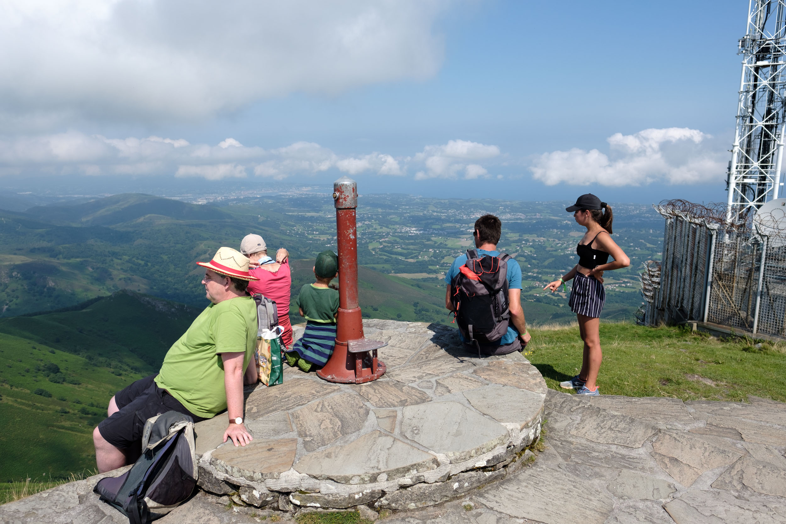 Der Gipfel La Rhune