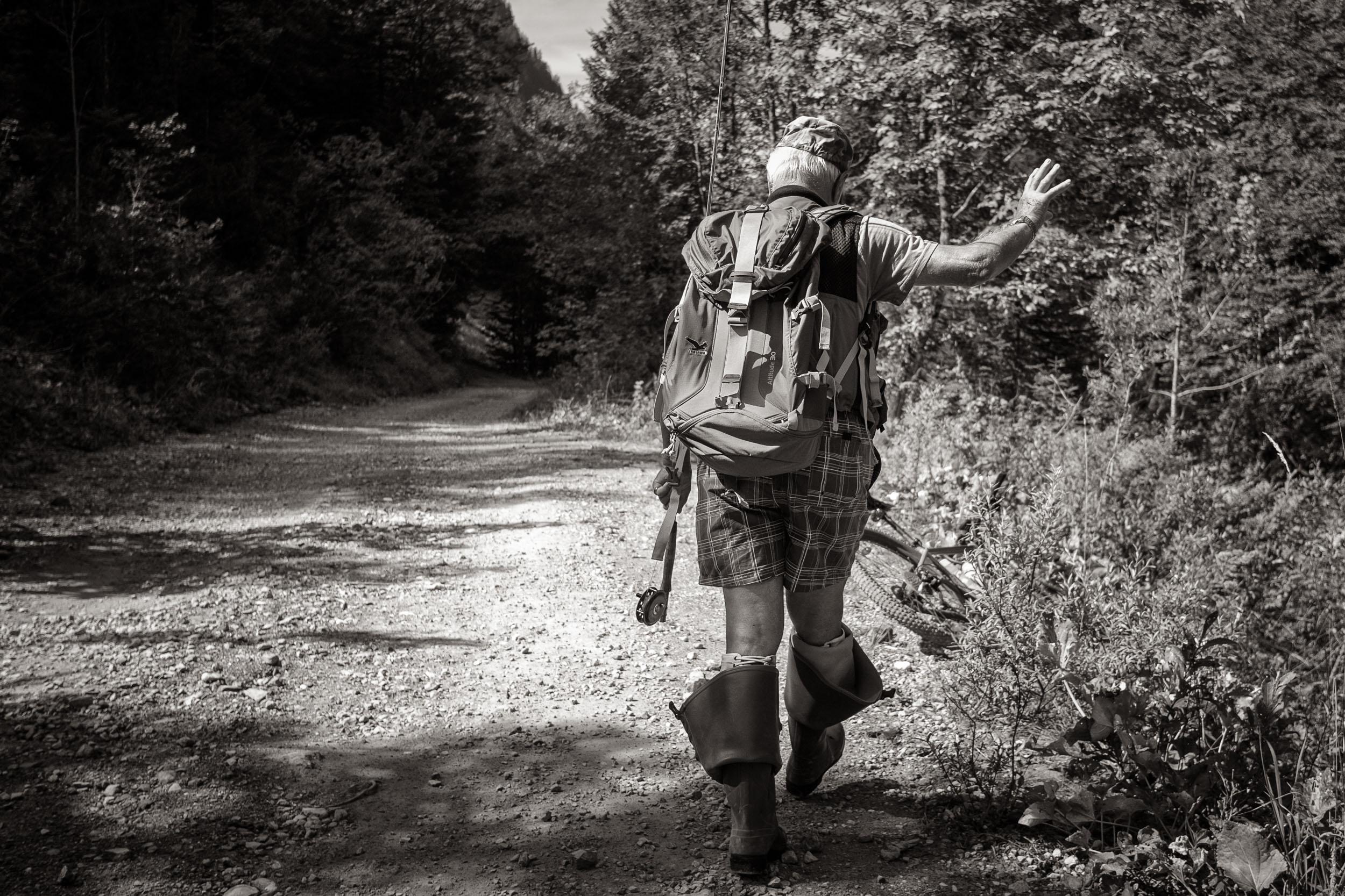 Angler am Lutzbach, Großes Walsertal