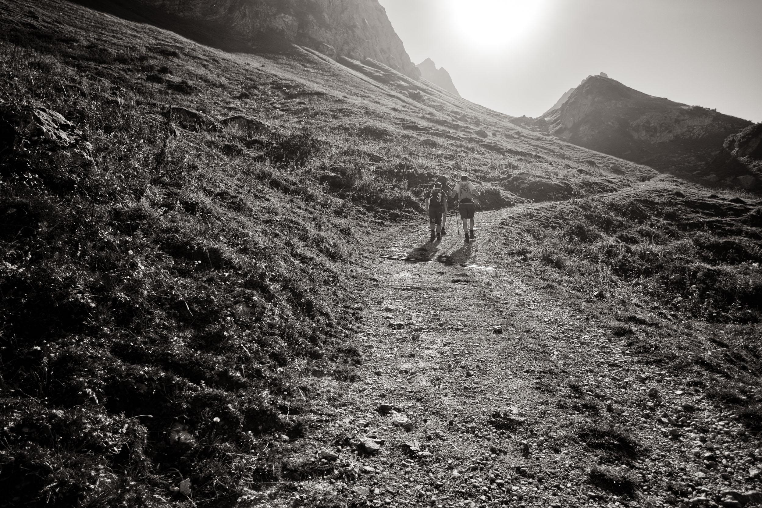 Weg zur oberen Laguzalpe Großes Walsertal
