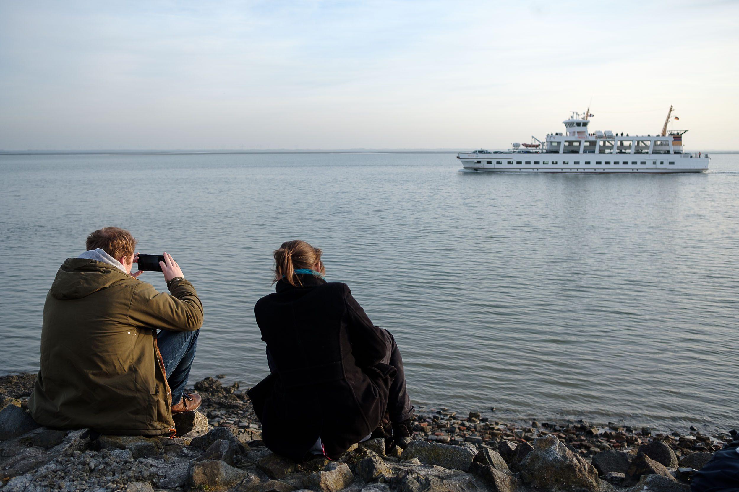 Warten auf die Fähre Norderney