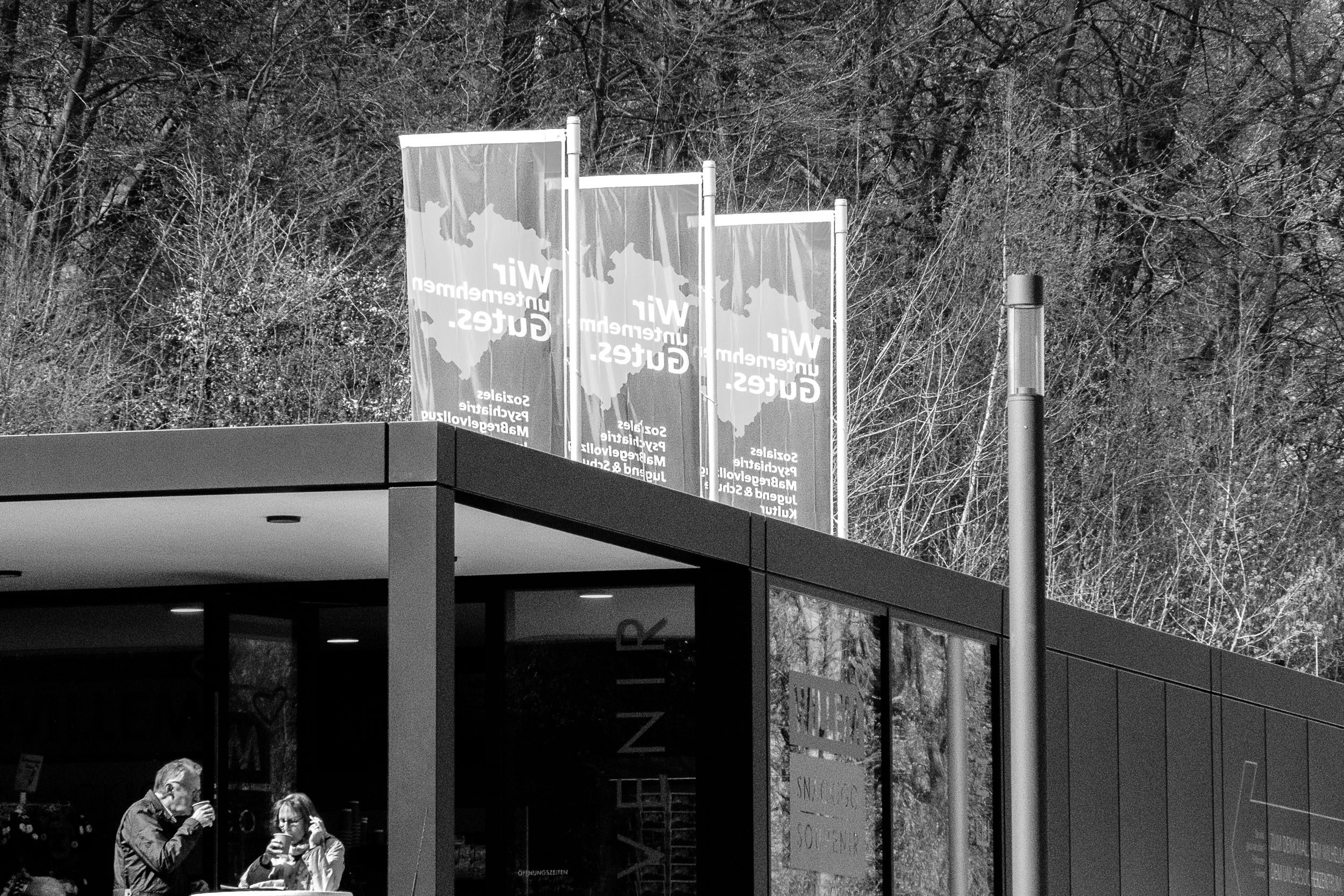 Besucher-Pavillion am Kaiser-Wilhelm-Denkmal an der Porta Westfalica