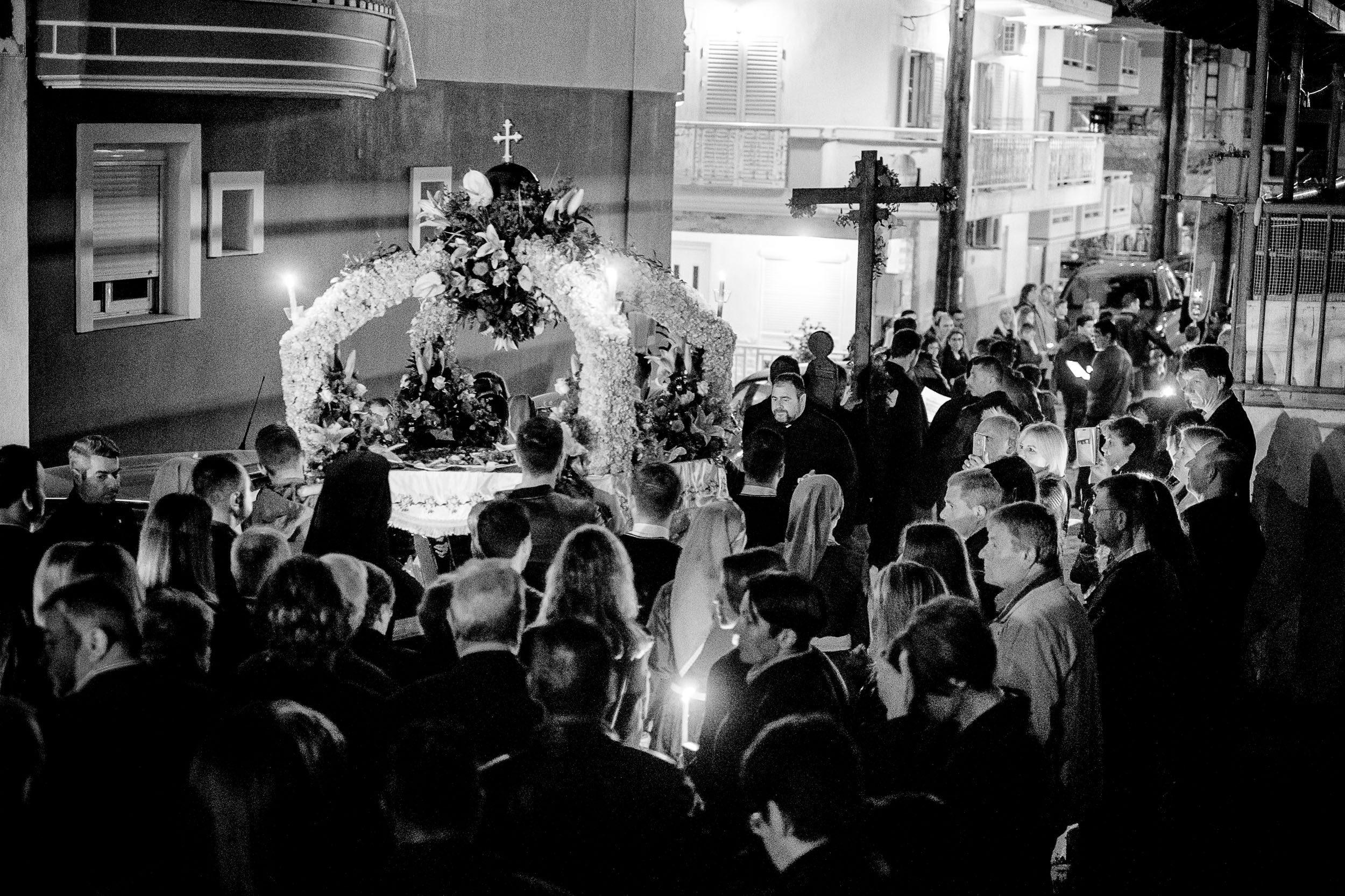 Karfreitag Prozession in Sartí,  Chalkidiki, Griechenland