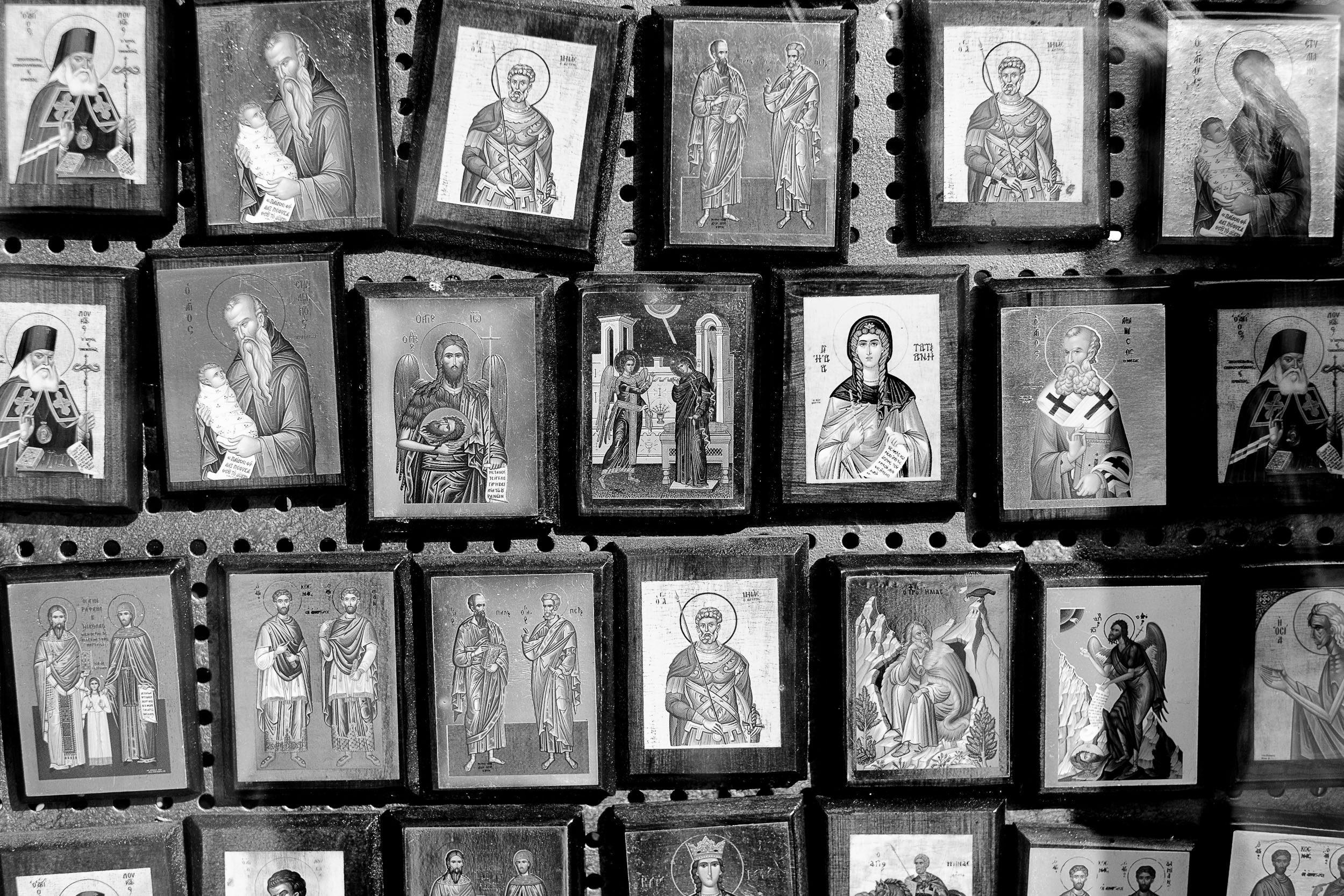 Heiligenbilder in Sartí,  Chalkidiki, Griechenland