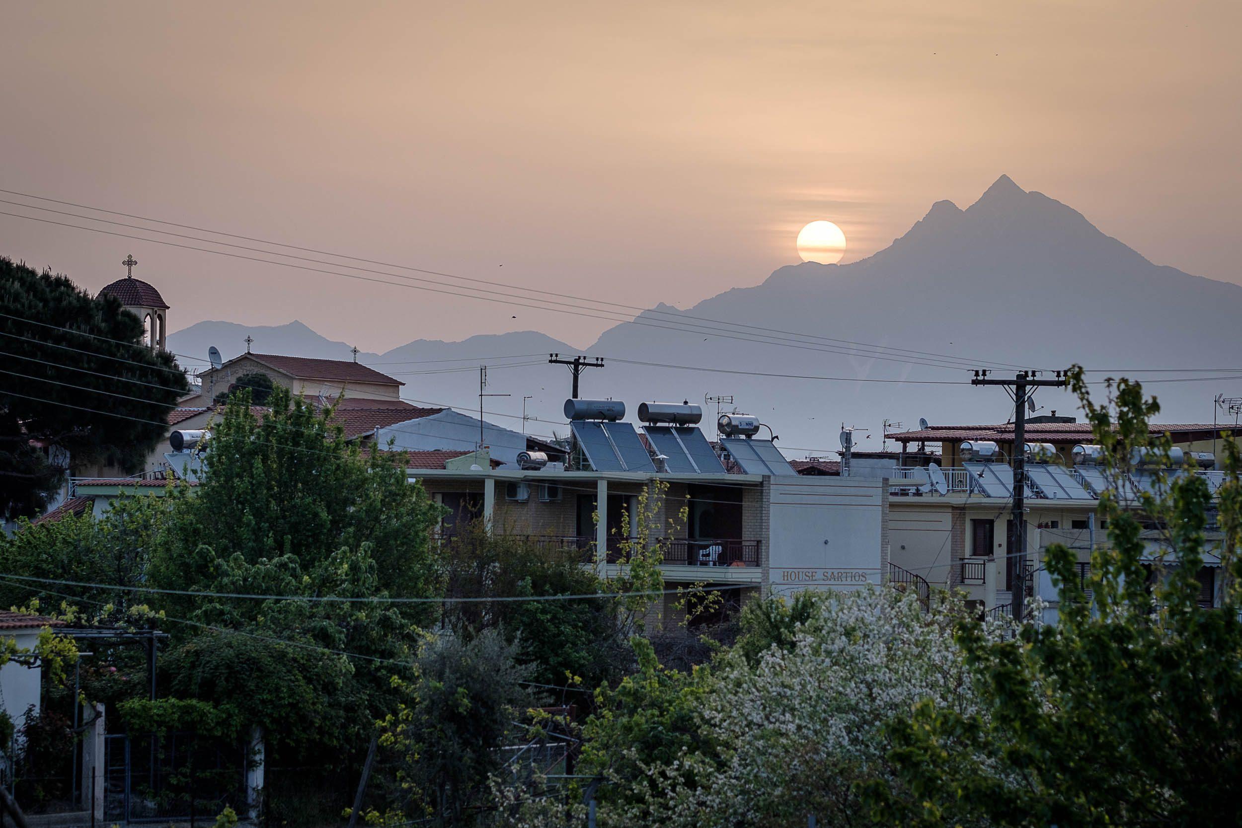 Sartí Sonnenaufgang