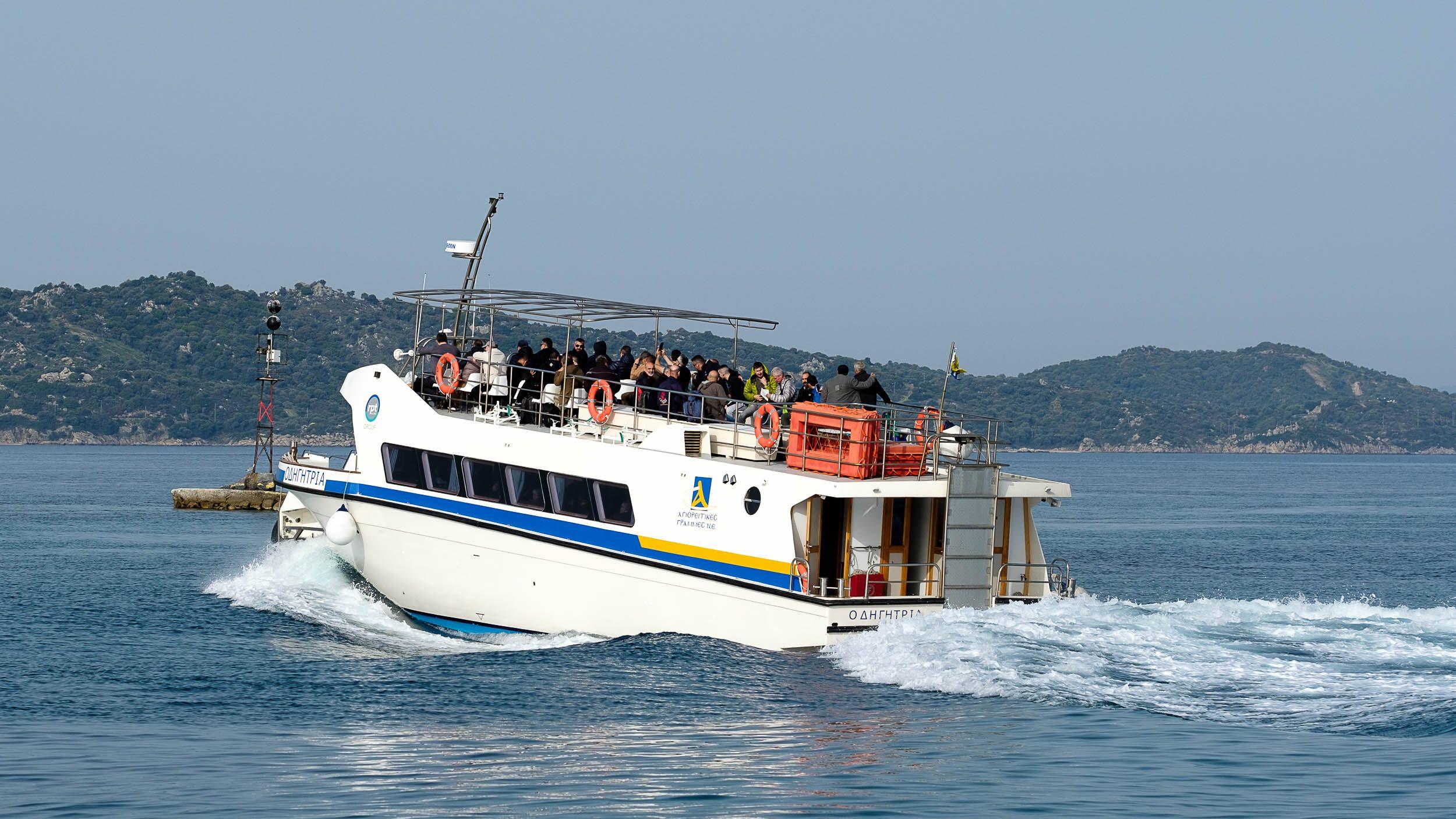 Pilgerboot Mönchsrepublik Athos, Griechenland, Ägäis