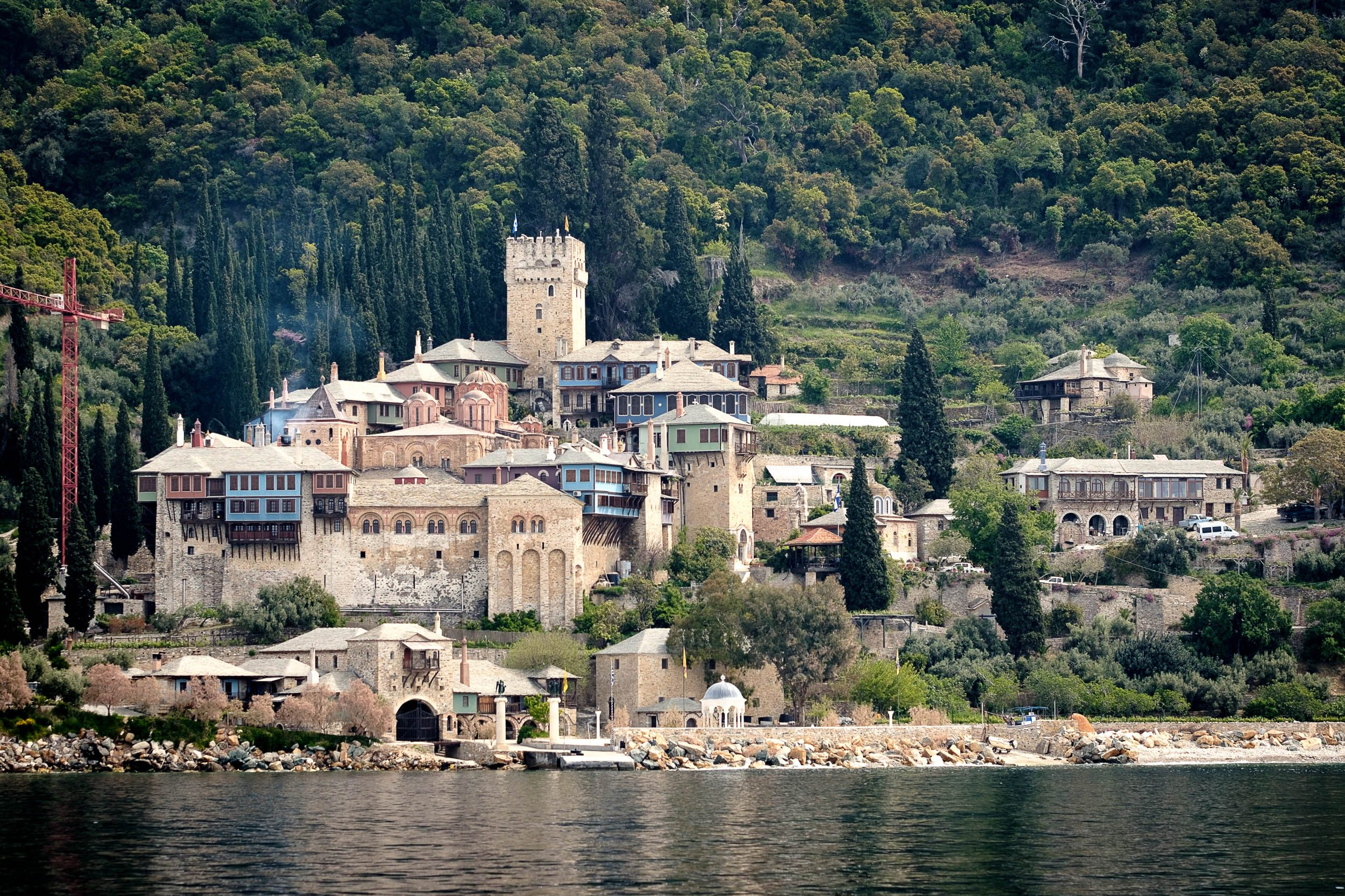 Kloster Dochiariou Mönchsrepublik Athos, Griechenland, Ägäis
