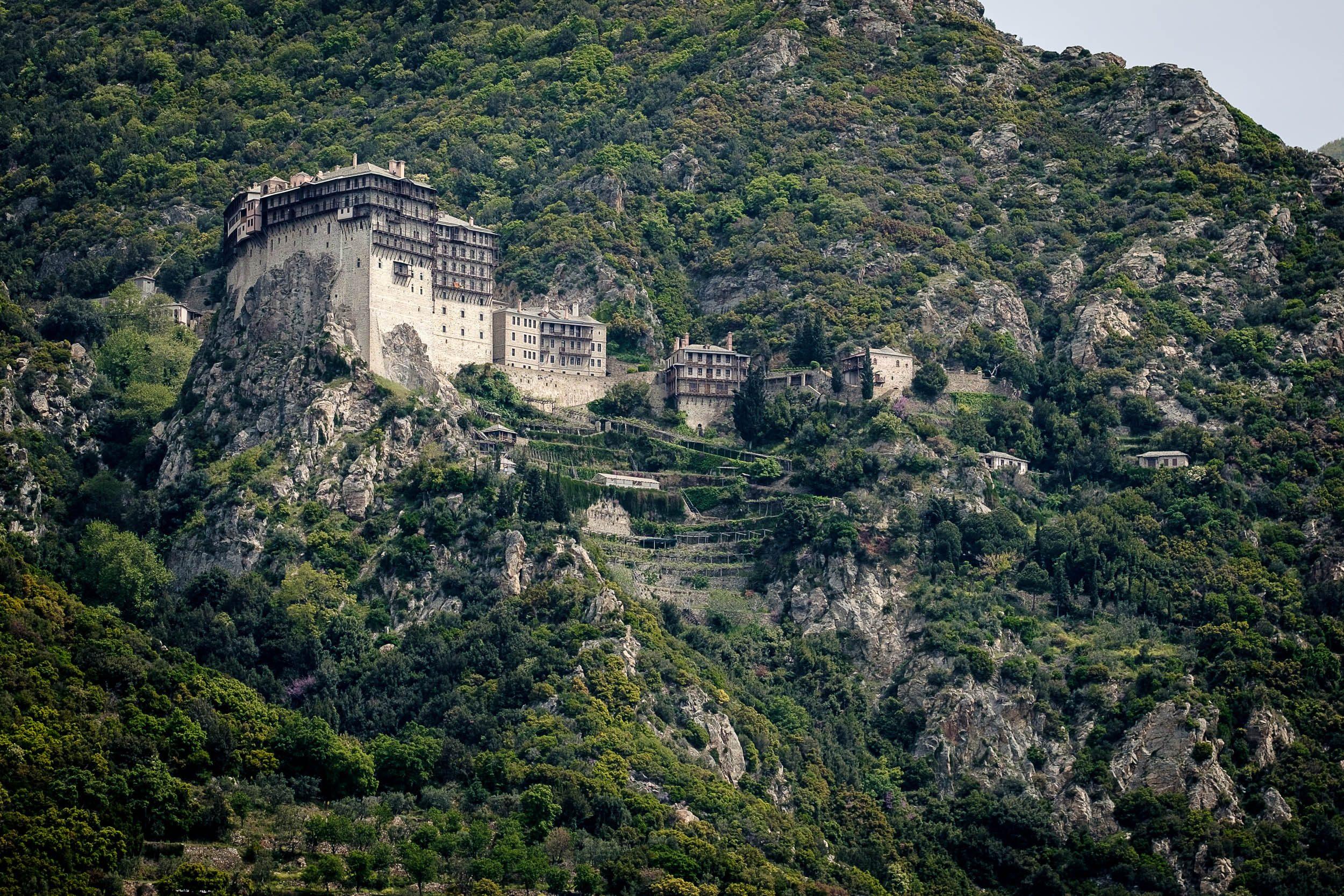 Kloster Simonos Petras Mönchsrepublik Athos, Griechenland, Ägäis
