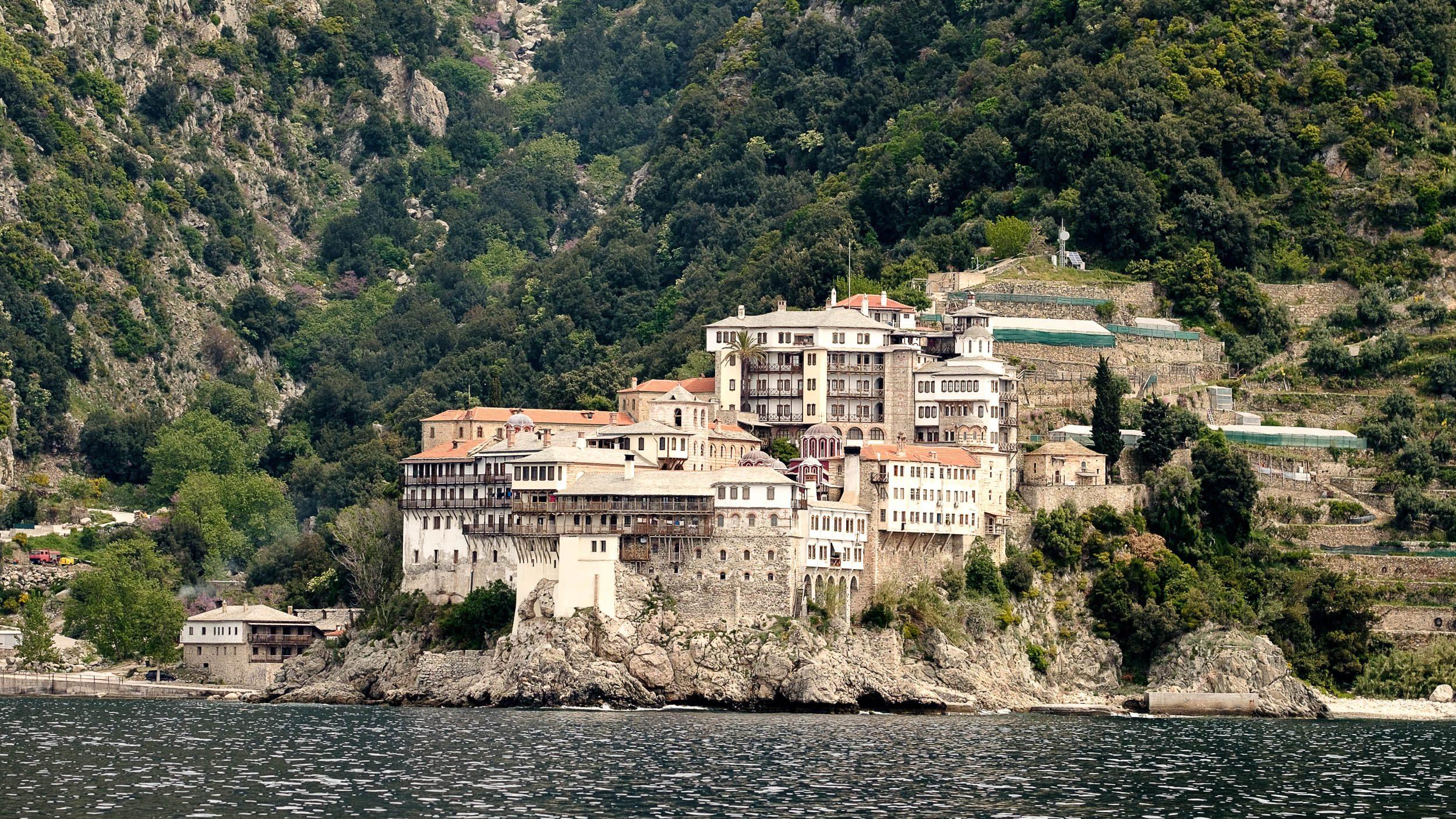 Klosteranlage Mönchsrepublik Athos, Griechenland, Ägäis