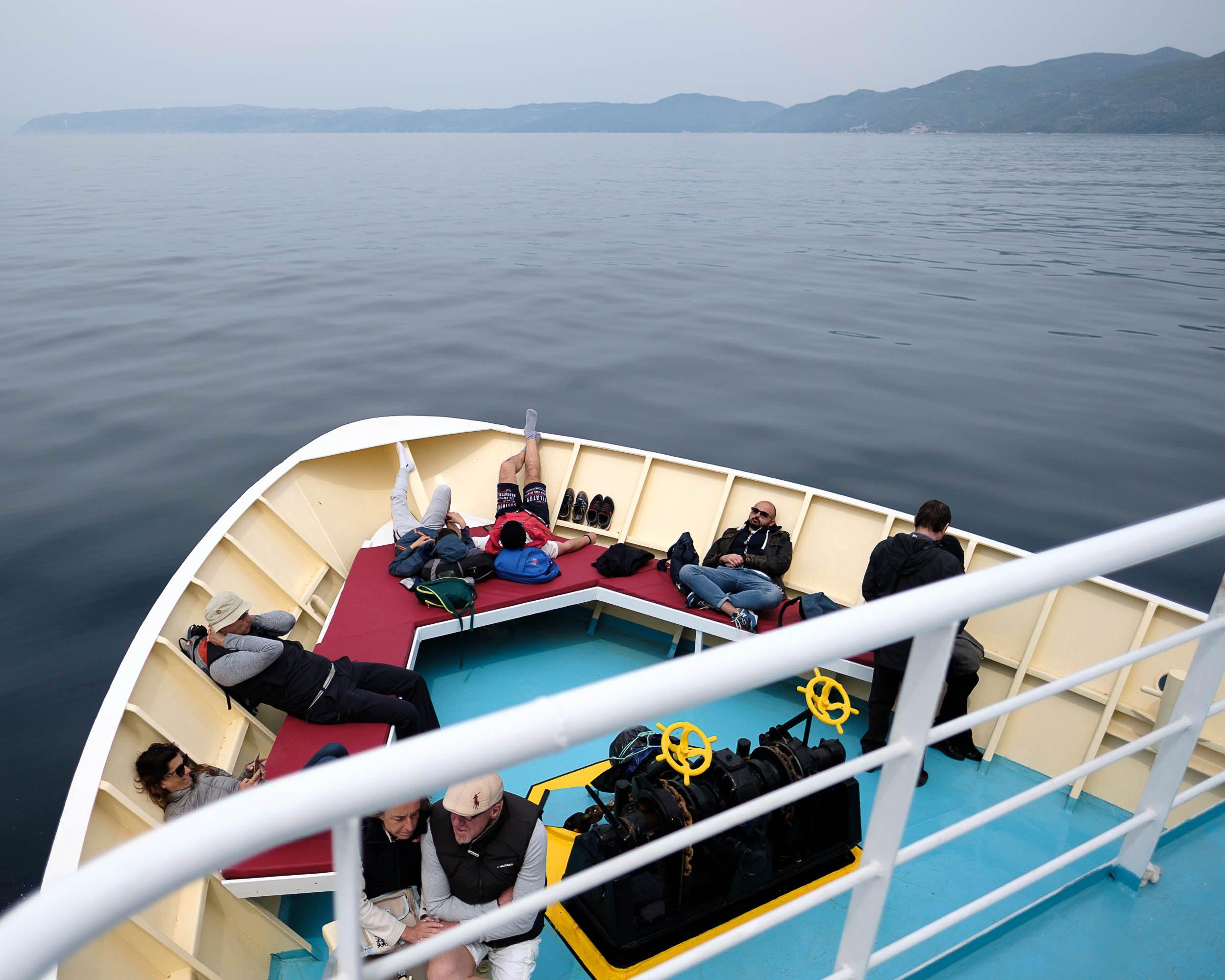 Schifffahrt Ägäis Mönchsrepublik Athos, Griechenland, Ägäis