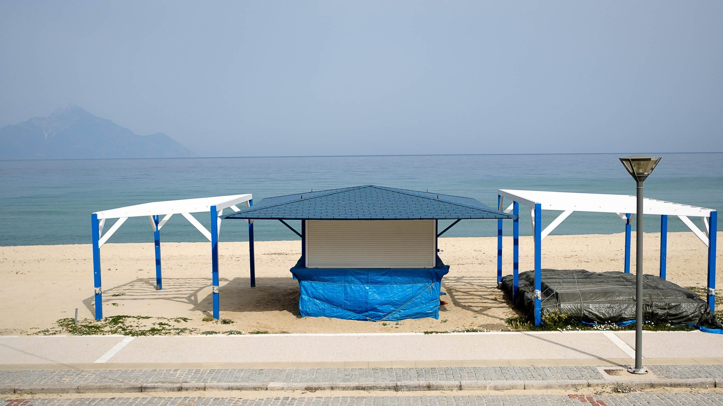 Strand Sartí, Chalkidiki, Griechenland