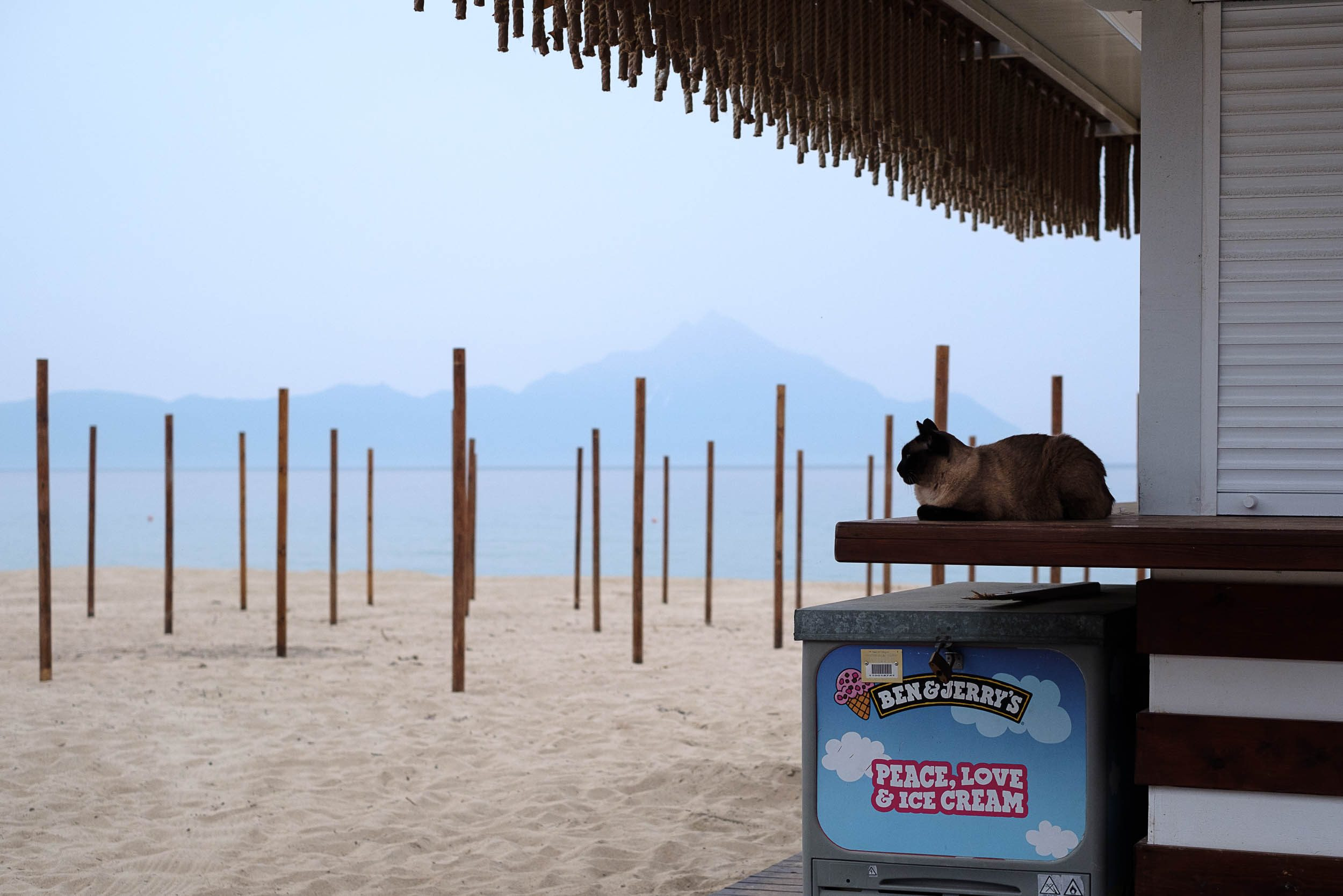 Beach-Bar Sartí, Chalkidiki, Griechenland