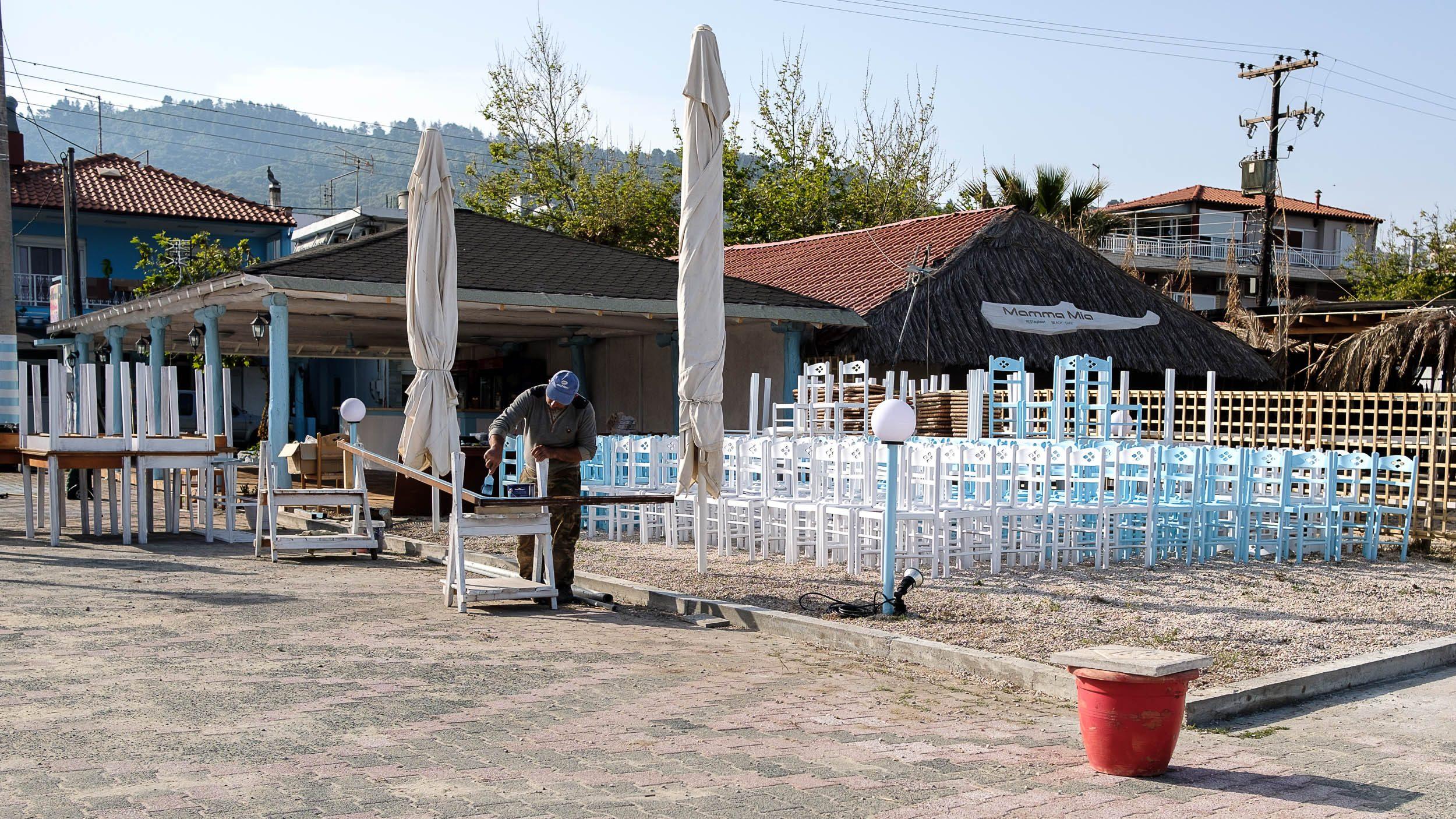 Bar Sartí, Chalkidiki, Griechenland