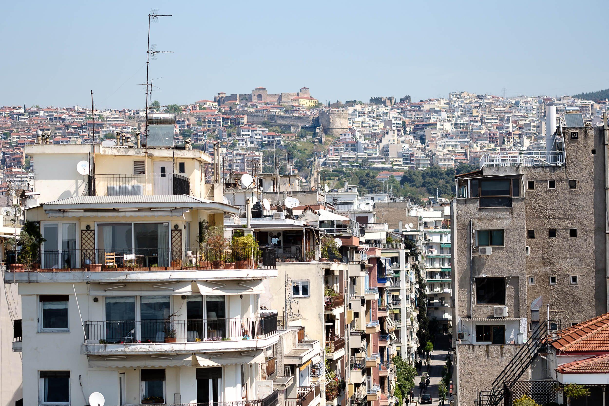 Hochhäuser Thessaloniki, Griechenland