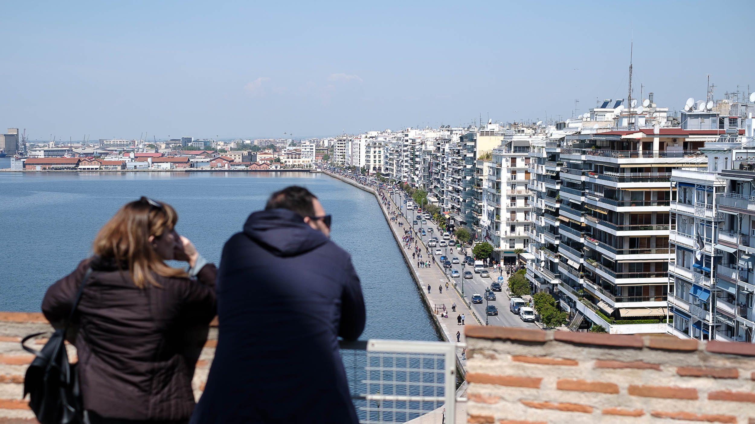 Blick vom weissen Turm, Thessaloniki, Griechenland