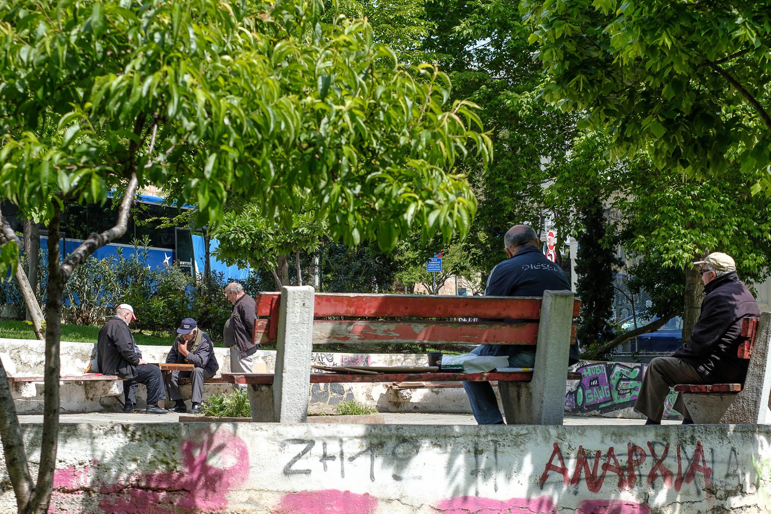 Platz, Thessaloniki, Griechenland