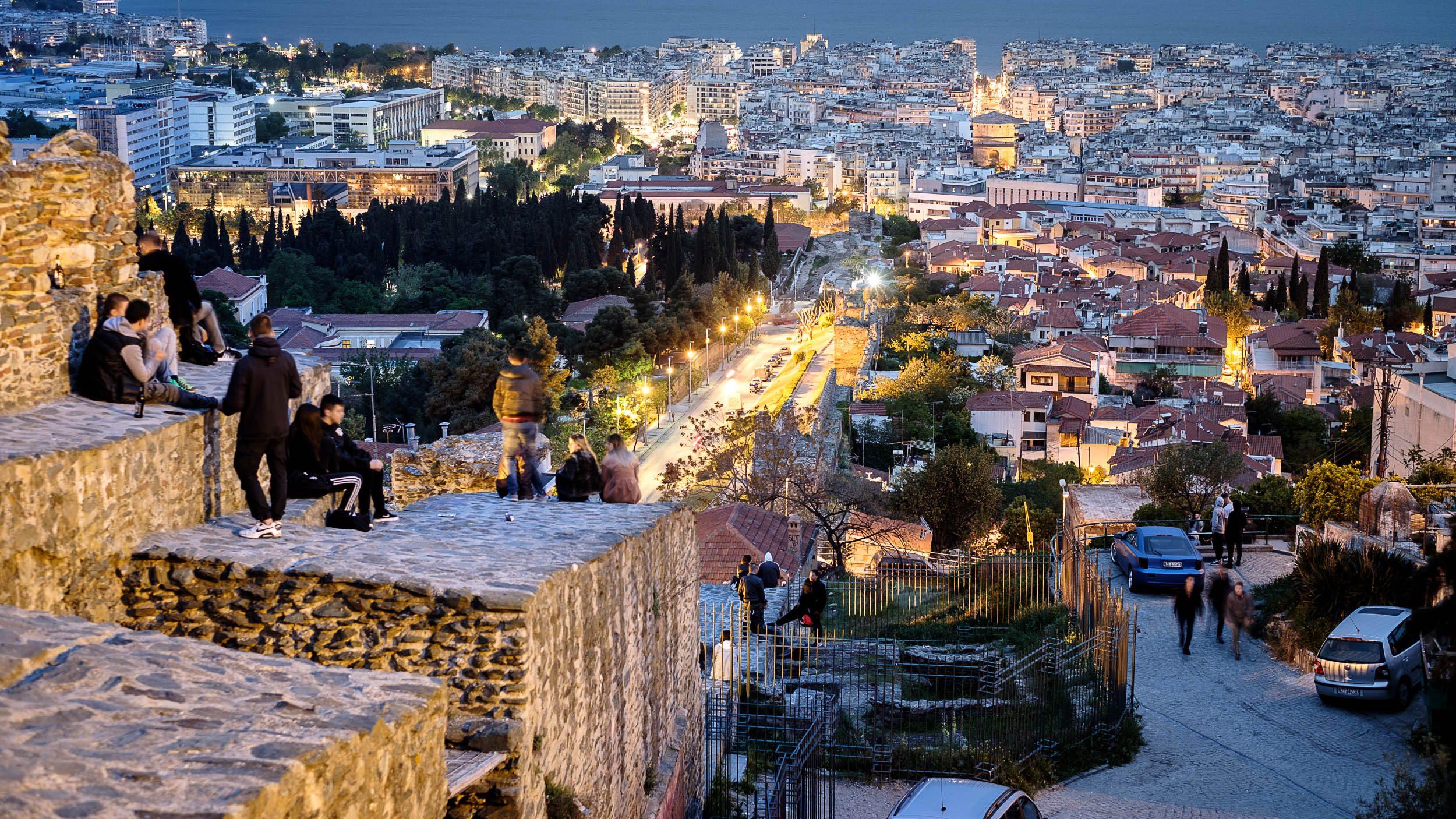 Nacht, Thessaloniki, Griechenland