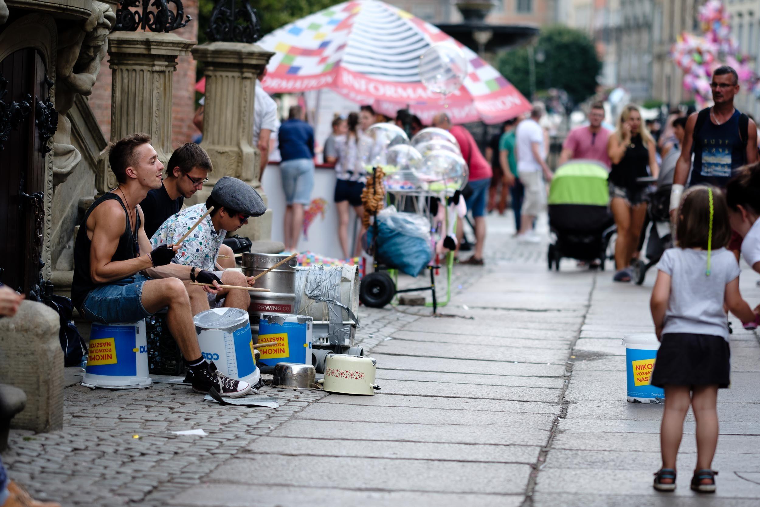 Straßenmusik Innenstadt Danzig