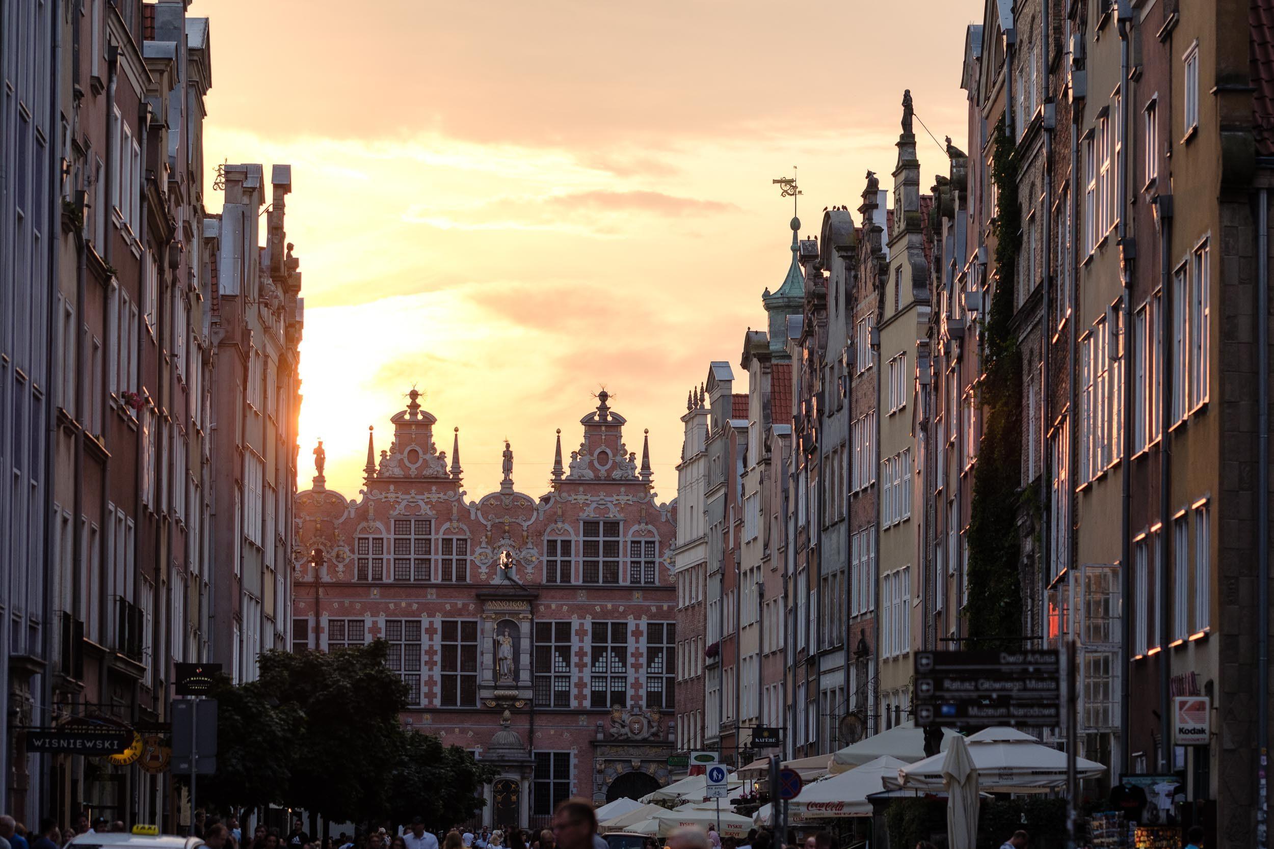 Sonnenuntergang Danzig Innenstadt