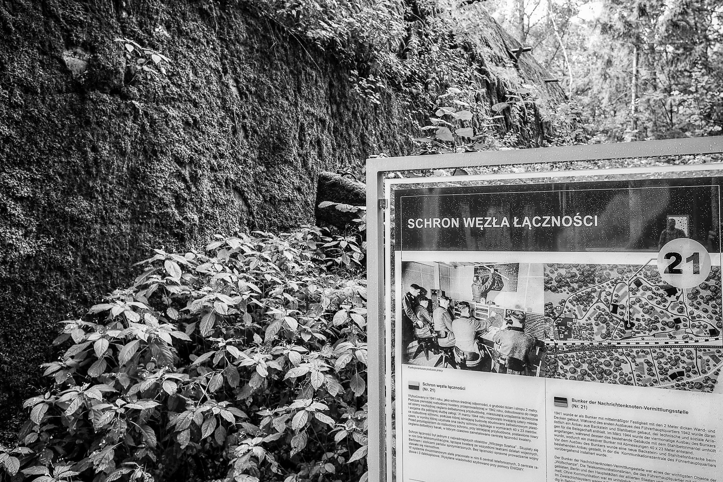 Hinweistafel zerstörter Bunker Wolfsschanze