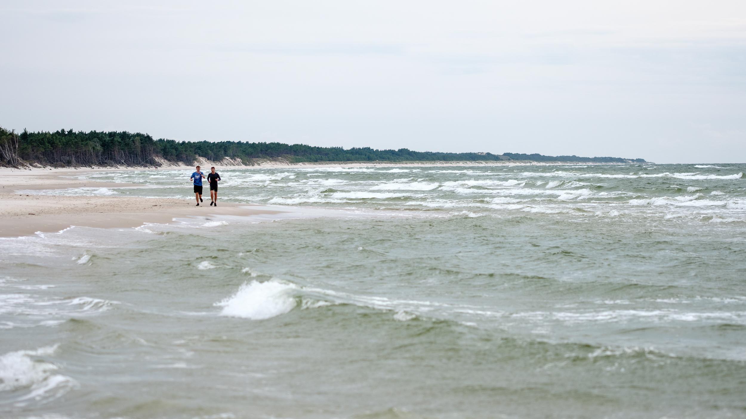 Strand westlich von Leba