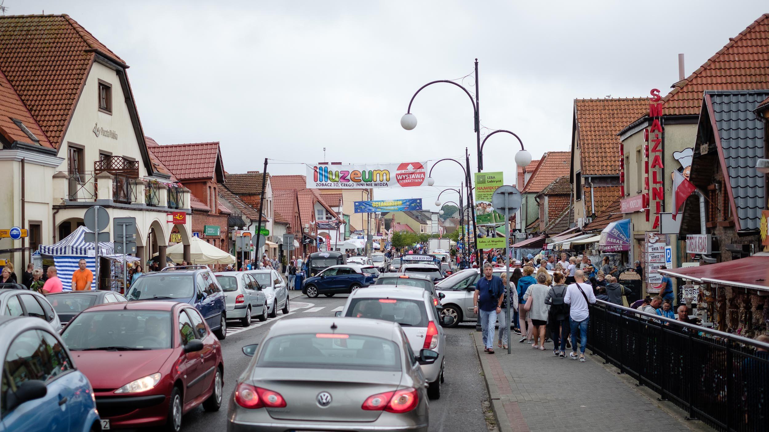 Innenstadt von Leba, Polen