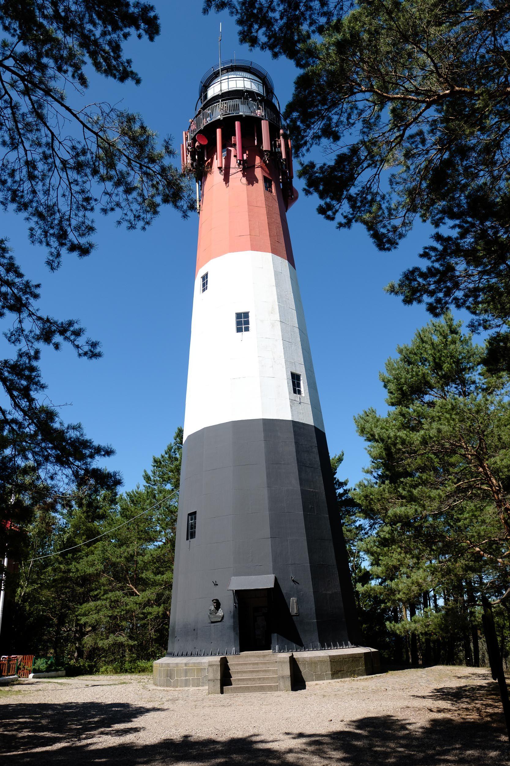 Leuchtturm im Rezerwat przyrody Mierzeja Sarbska