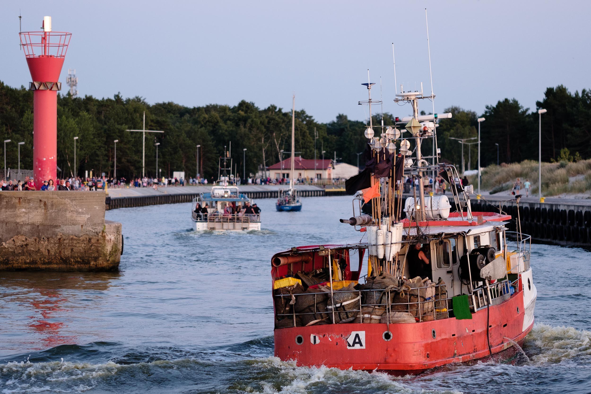 Hafeneinfahrt Leba, Polen