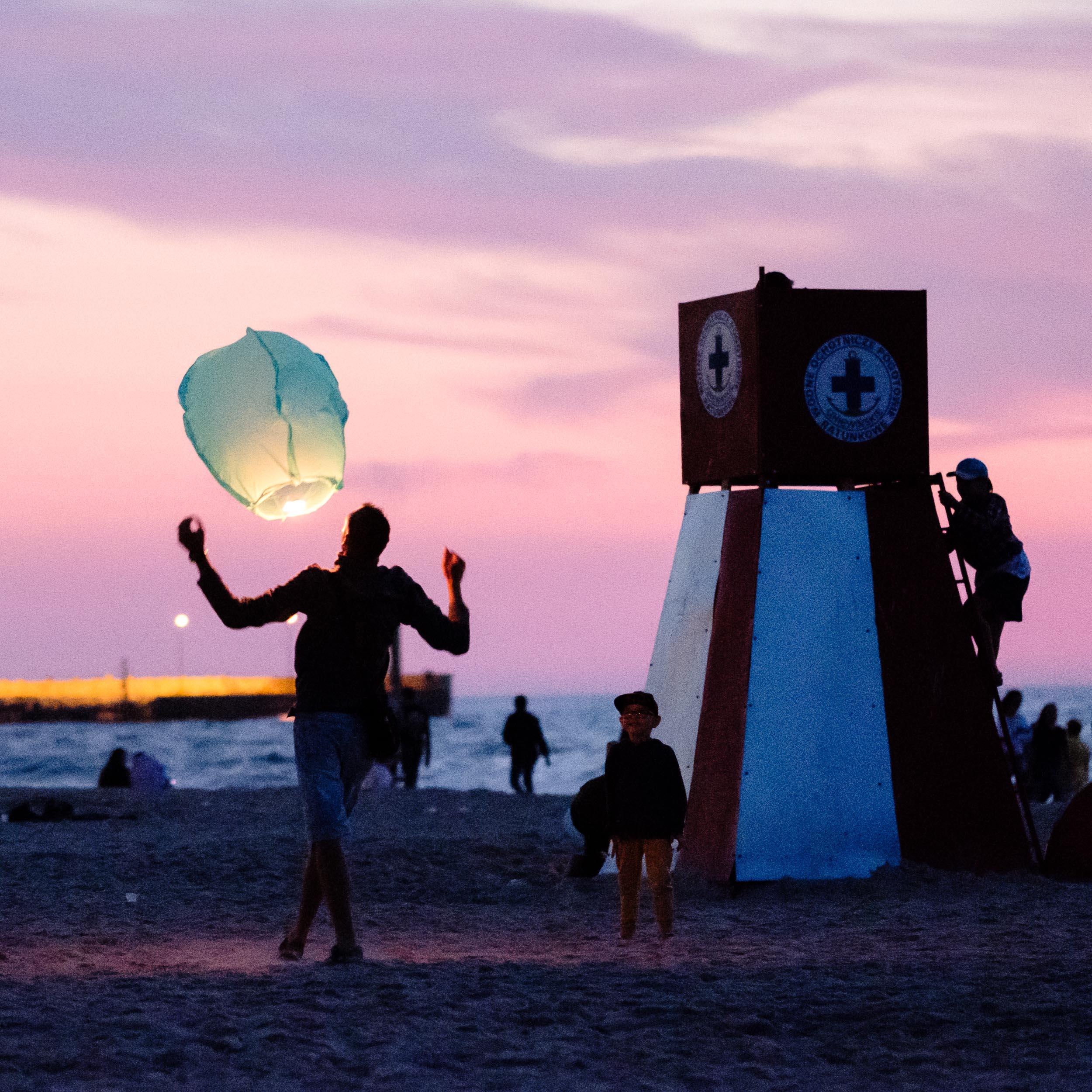 Strandvergnügen Leba, Polen