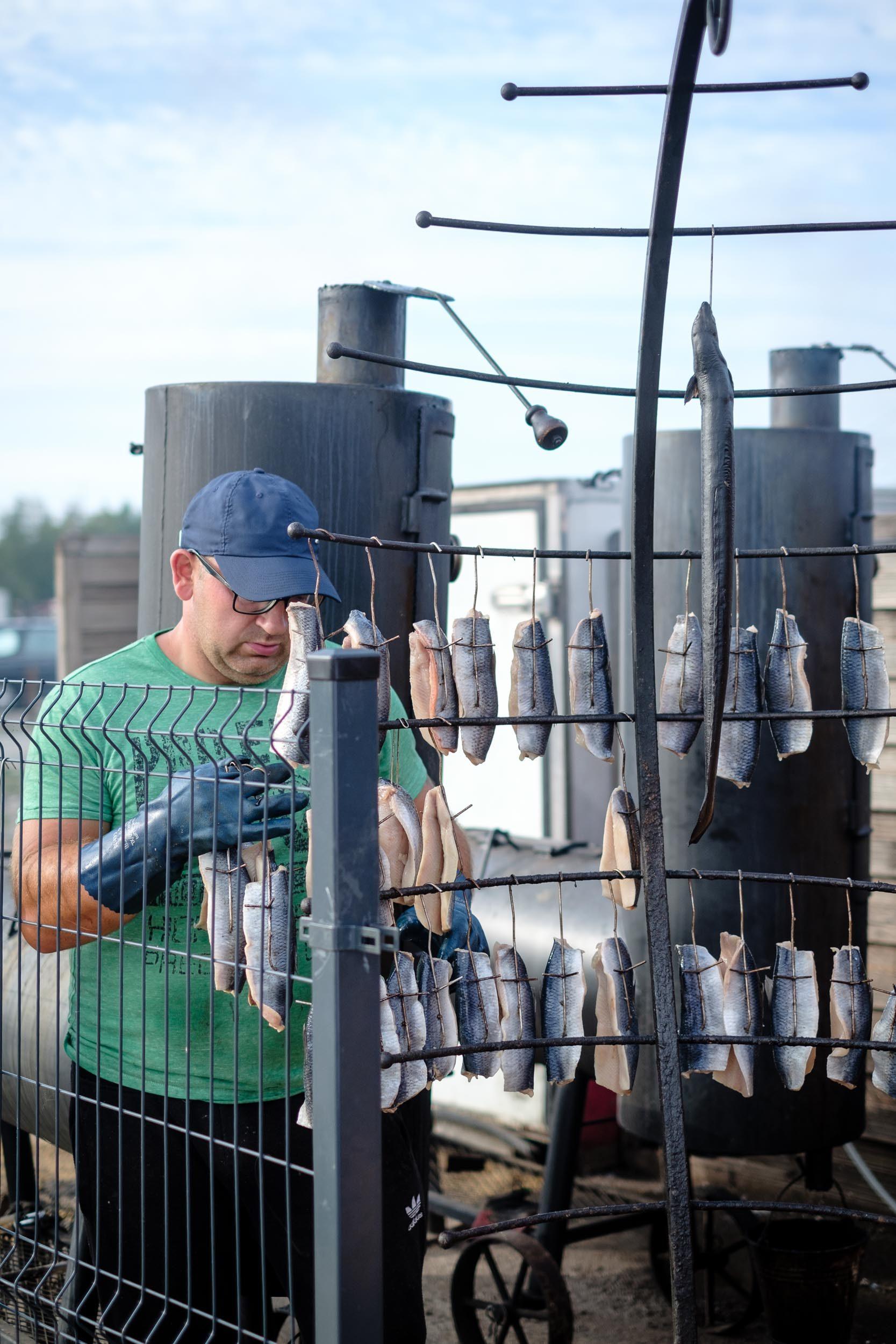 Räucherfisch Leba, Polen