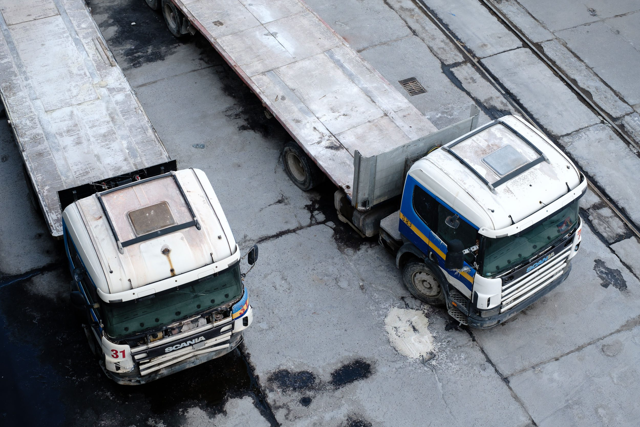 alte Lastwagen Stettin