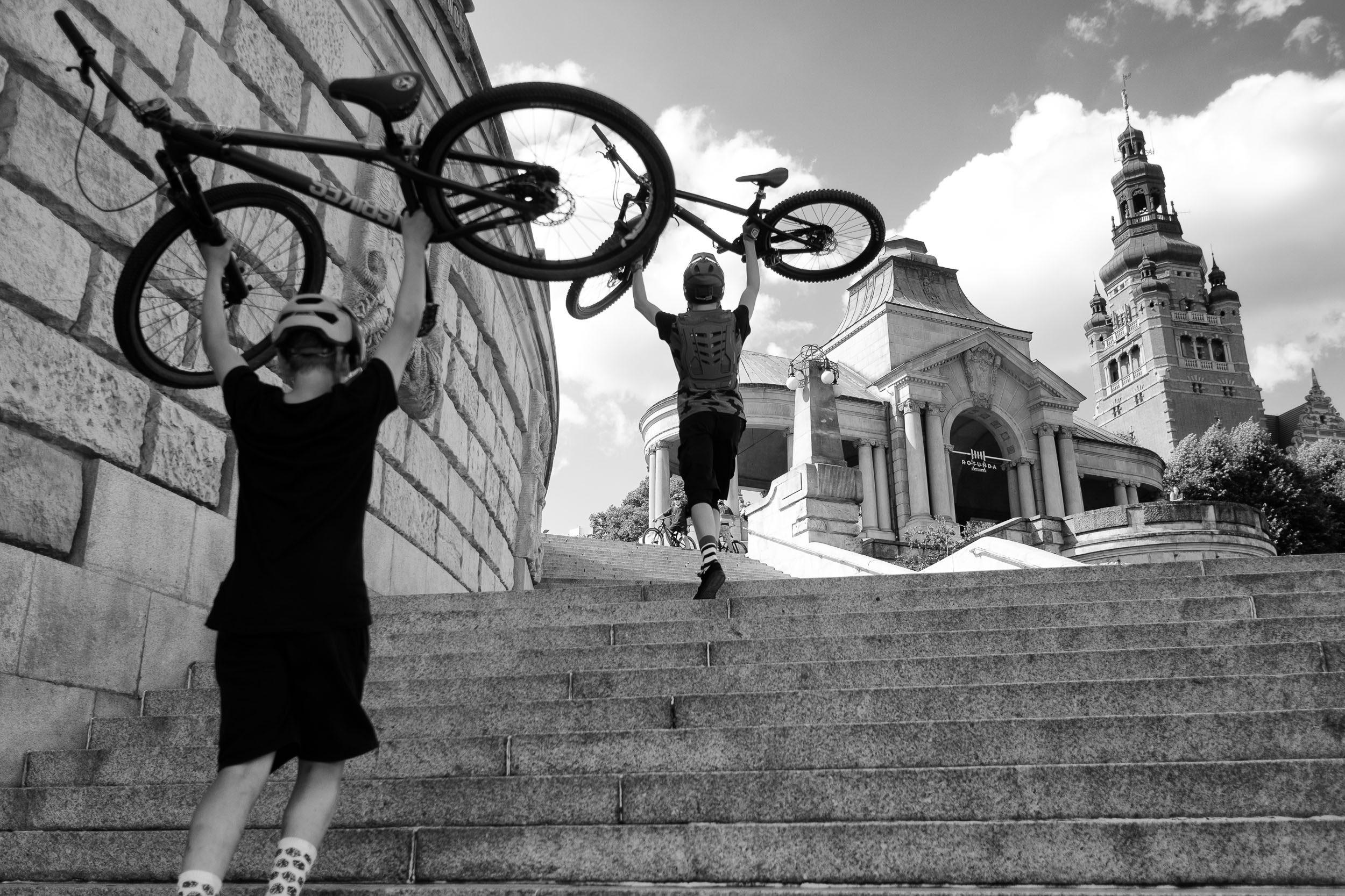 Fahrräder in Stettin
