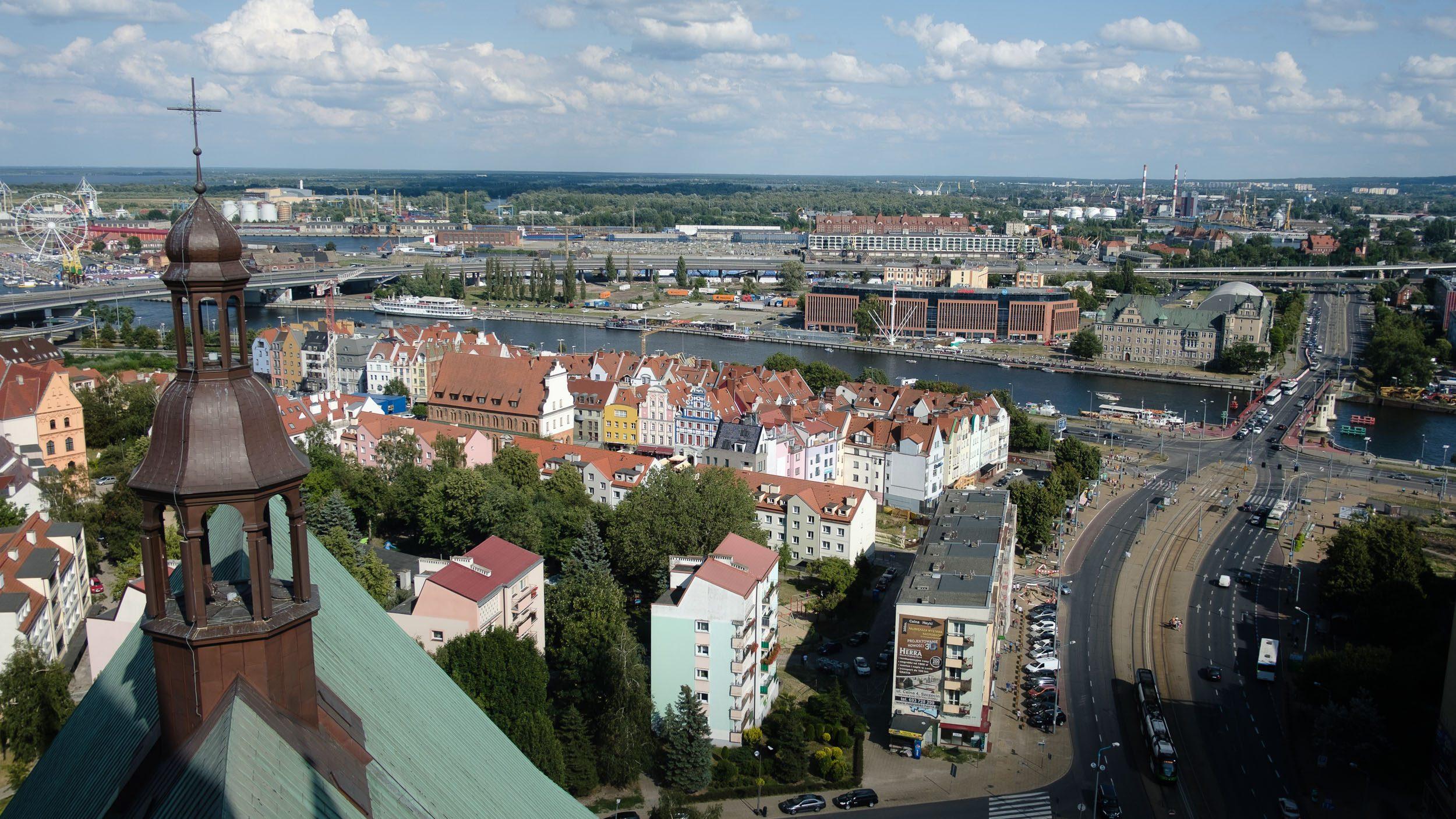 Stettin - Blick von der Kirche