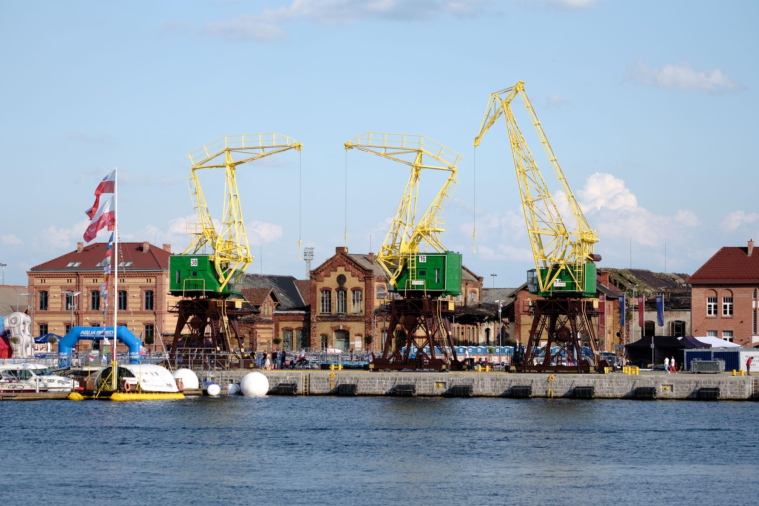 Kräne Stettiner Hafen