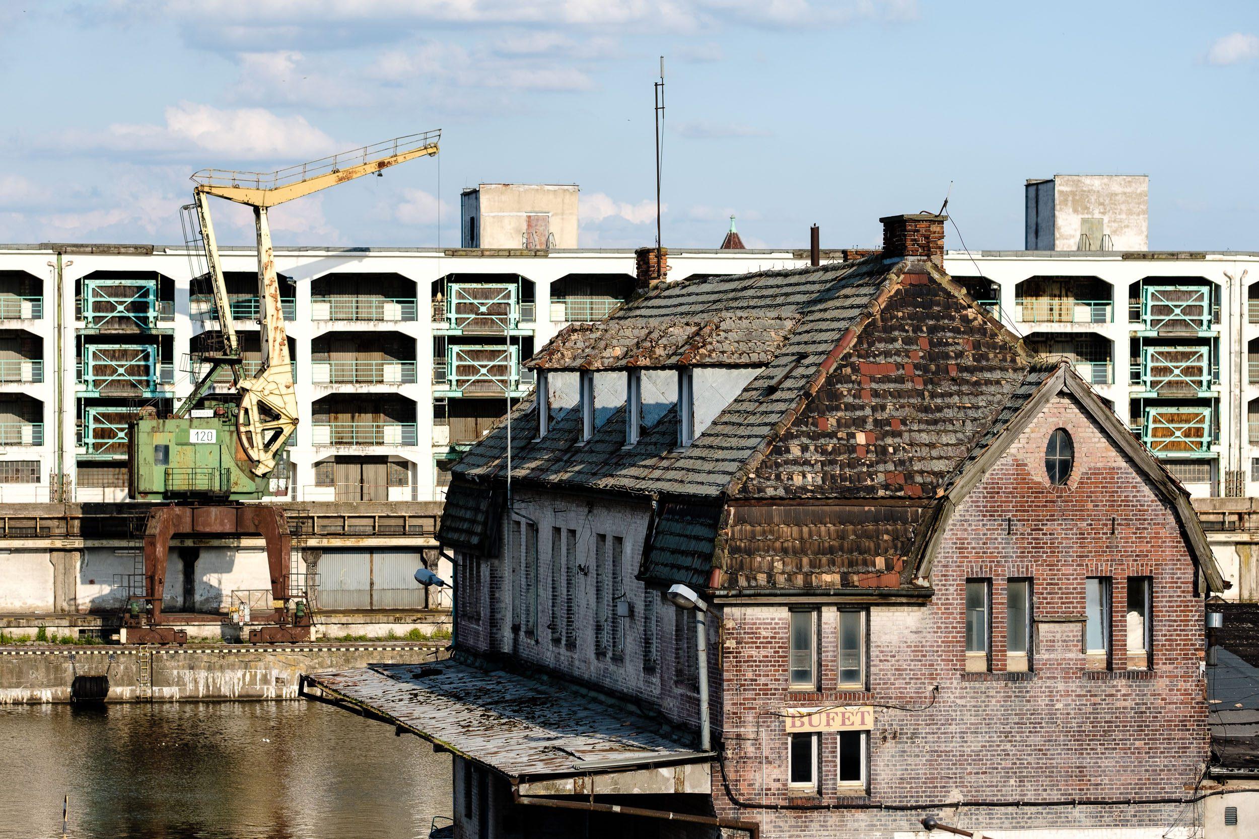 alte Hafenanlage Stettin