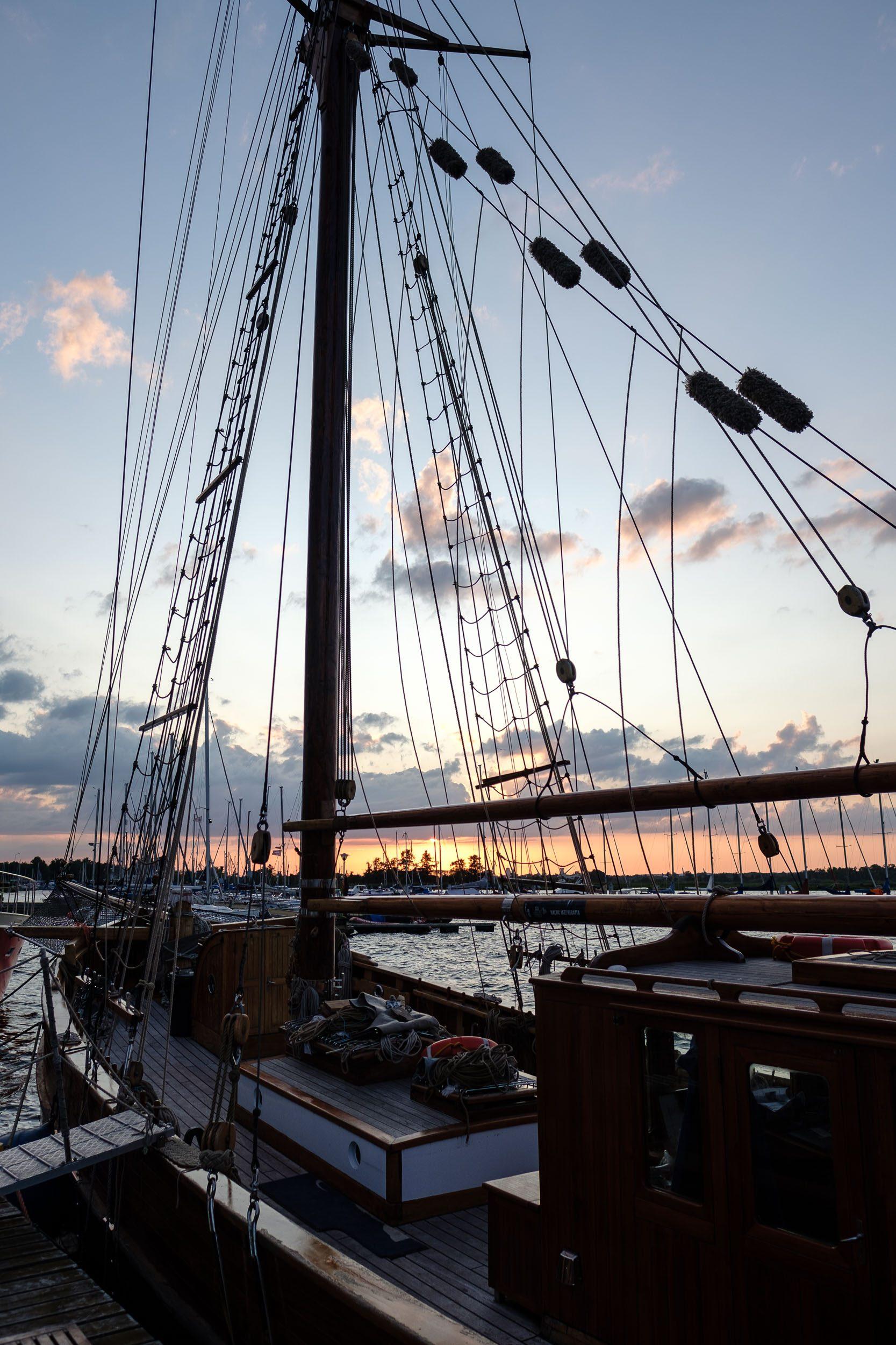 Sonnenuntergang Hafen Stettin