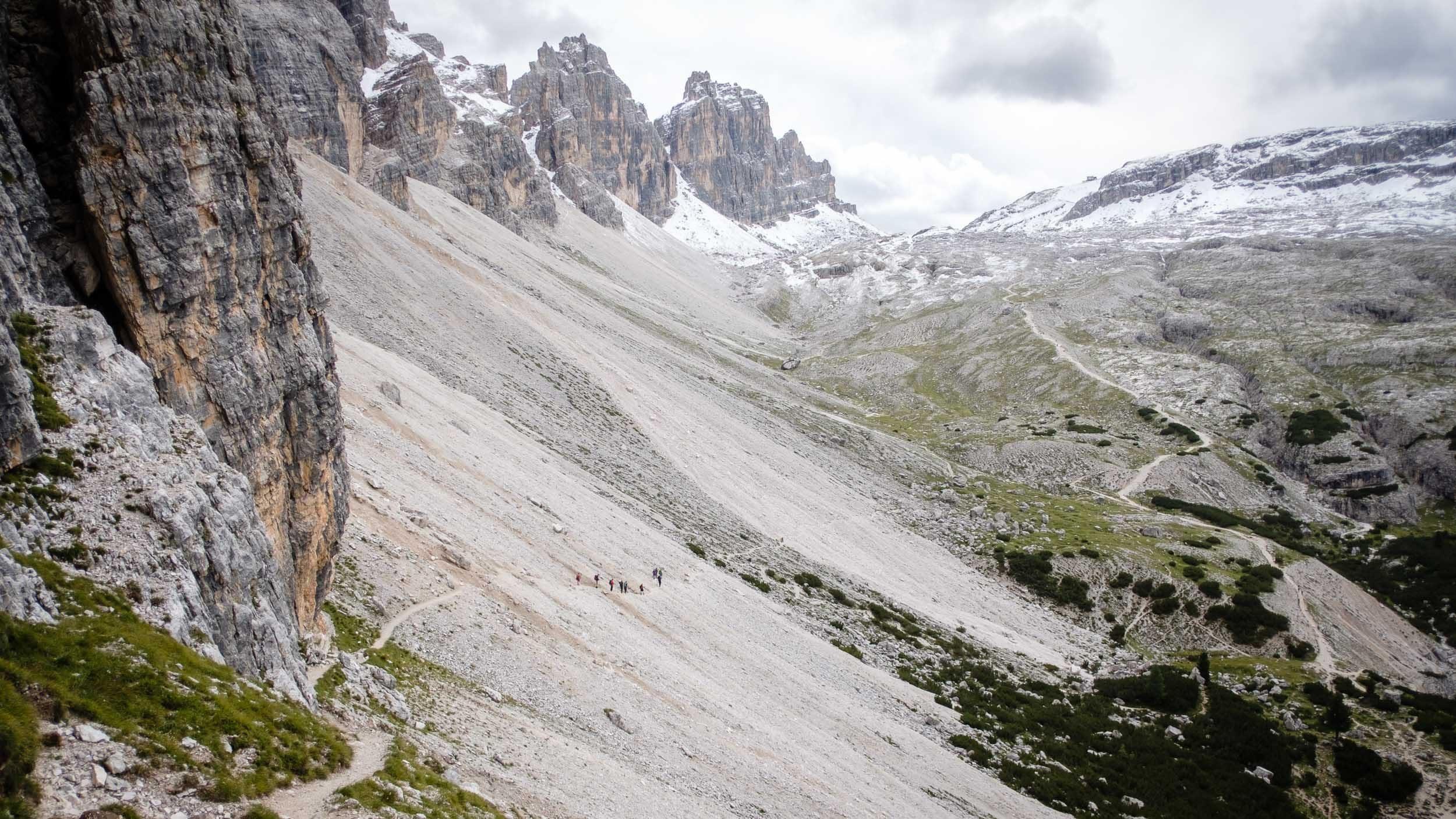 Tal, Lagazuoni Hütte, Dolomiten