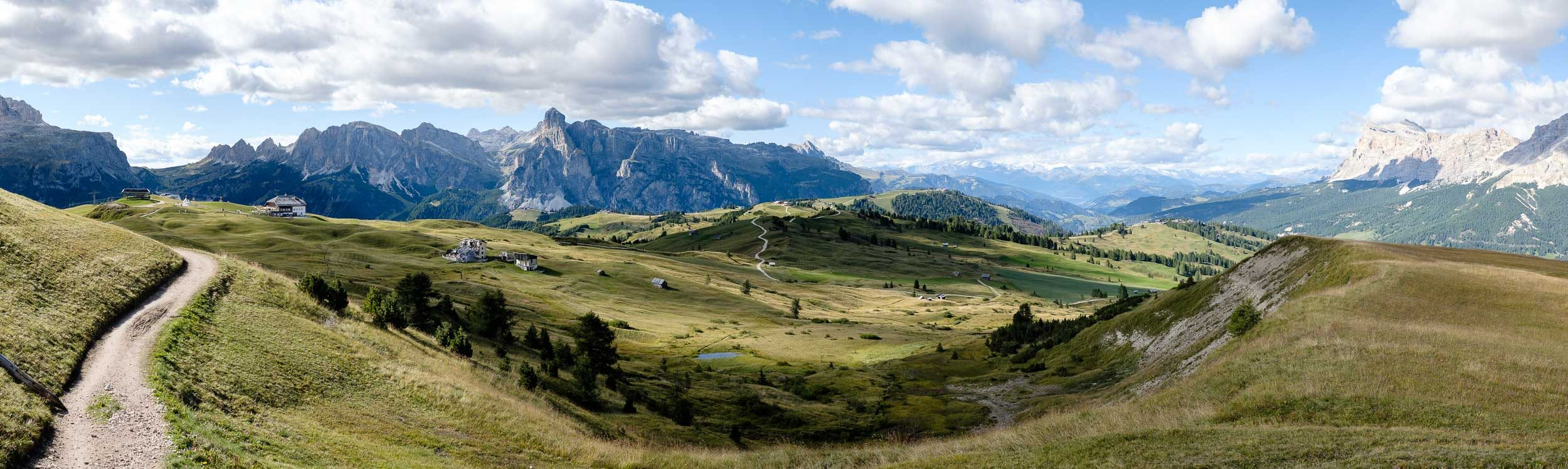 Panorama in den Dolomiten